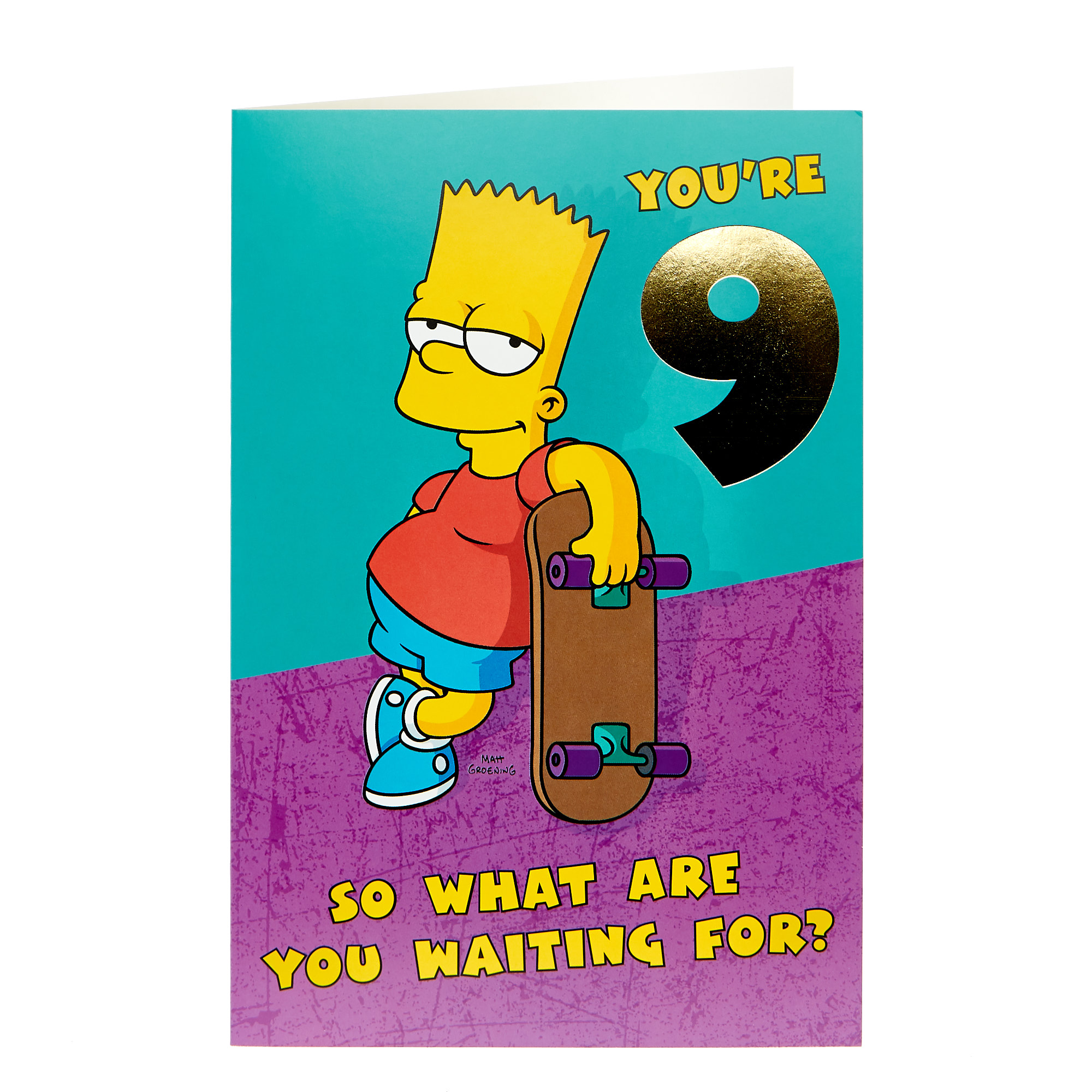 The Simpsons 9th Birthday Card