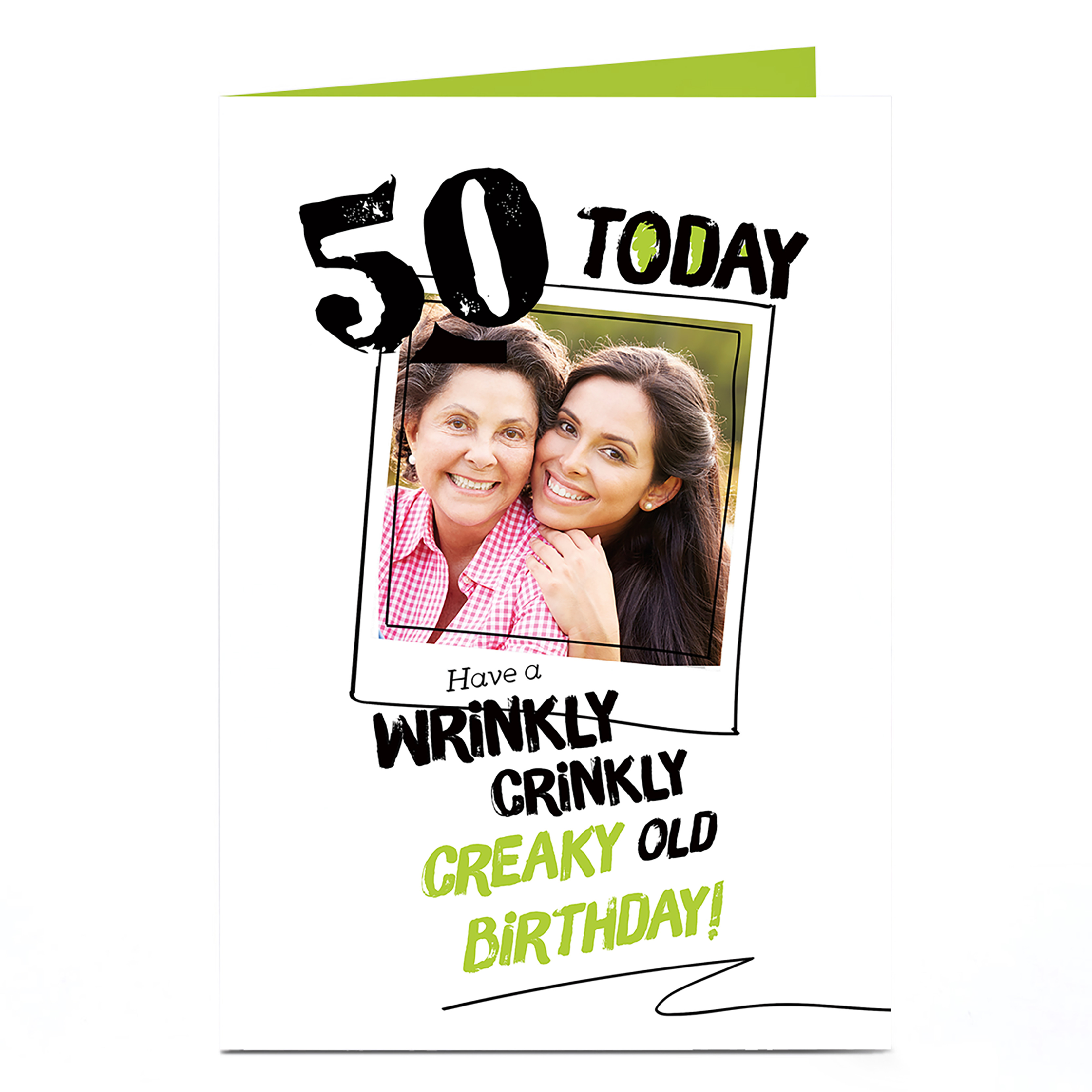 Photo Any Age Birthday Card - Crinkly, Creaky