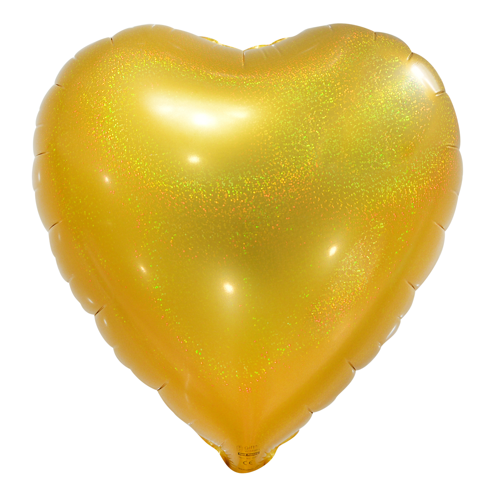 Gold Holographic Foil Heart Balloon