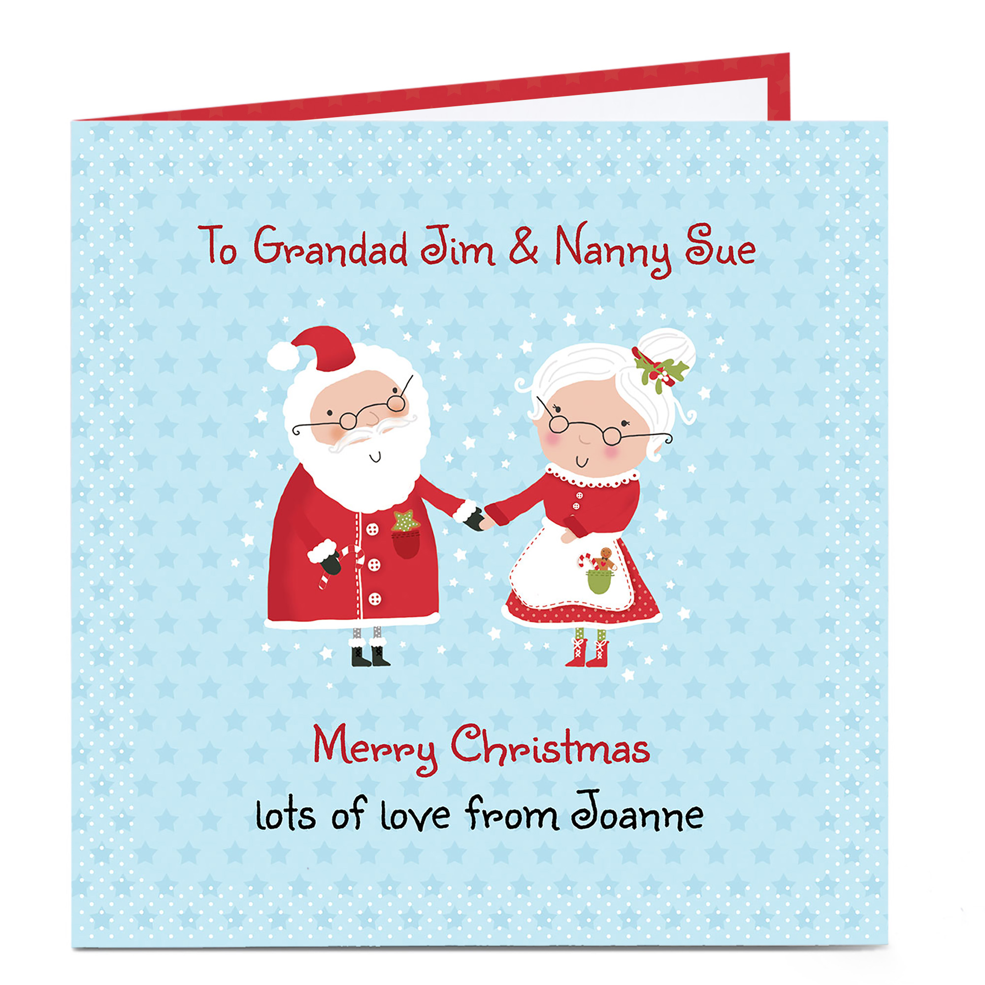 Personalised Christmas Card - Mr And Mrs Claus