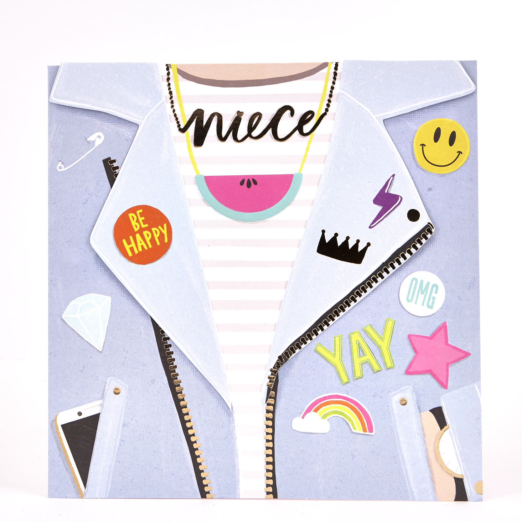 Boutique Collection Birthday Card - Niece Jacket