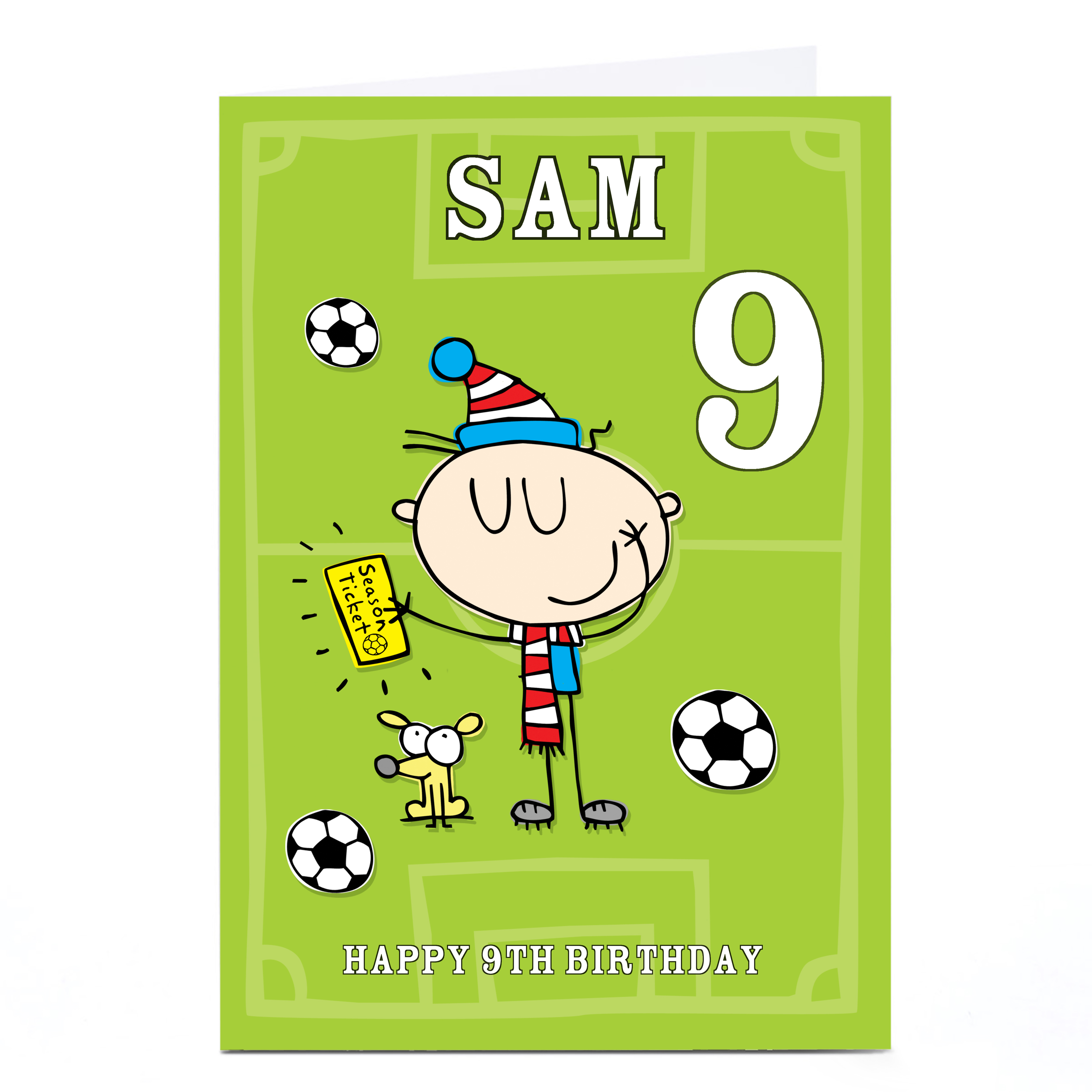 Personalised Birthday Card - Football Fan, Any Age