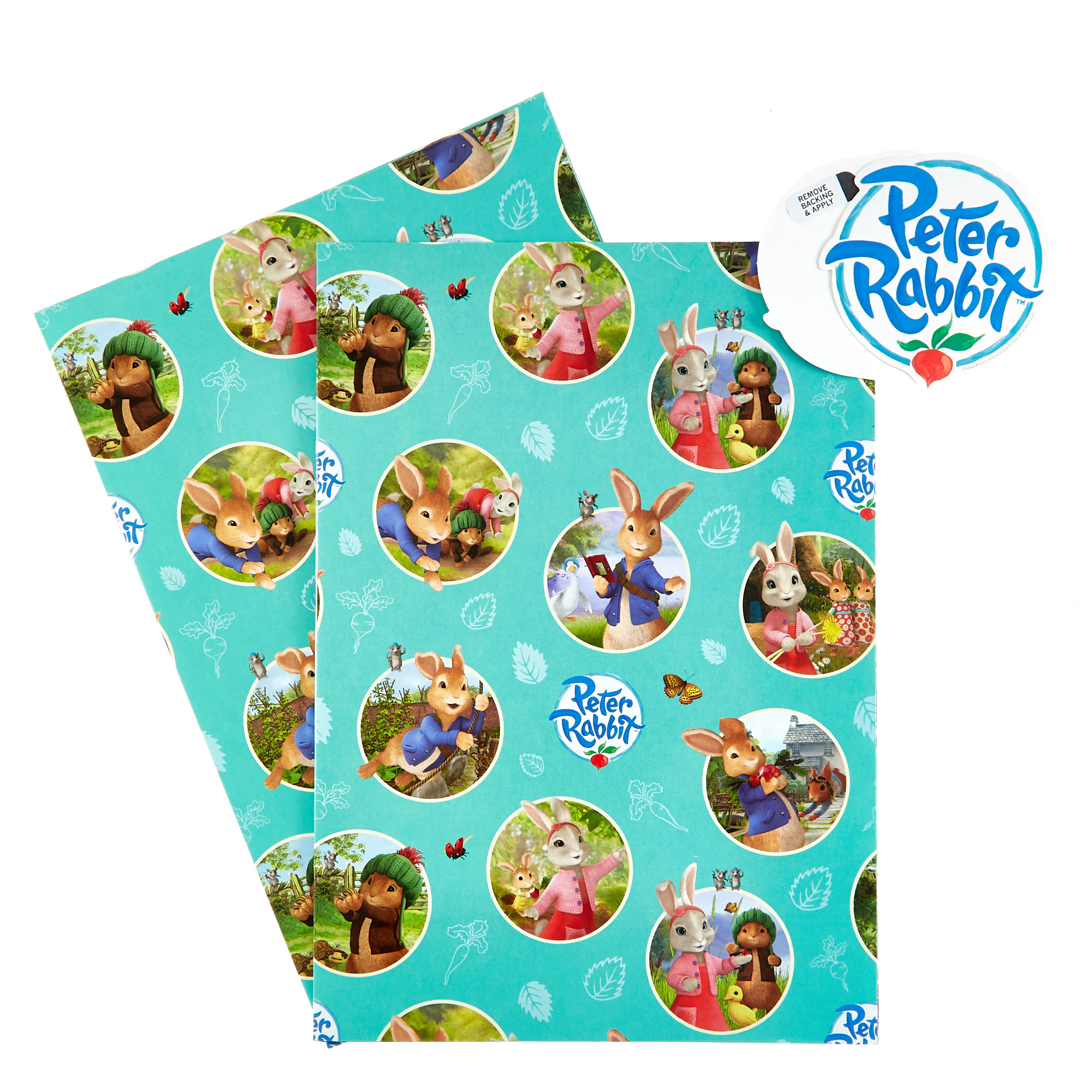 Peter Rabbit Birthday Wrapping Paper Inc 2 sheets /& 2 tags