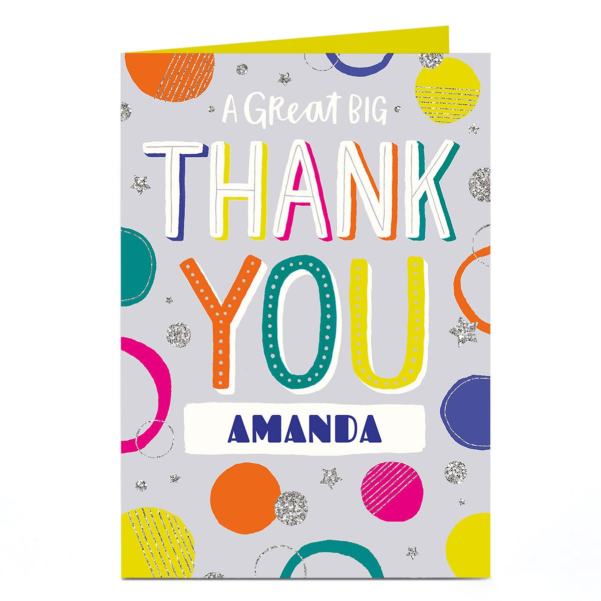 Personalised Thank You Card - A Great Big