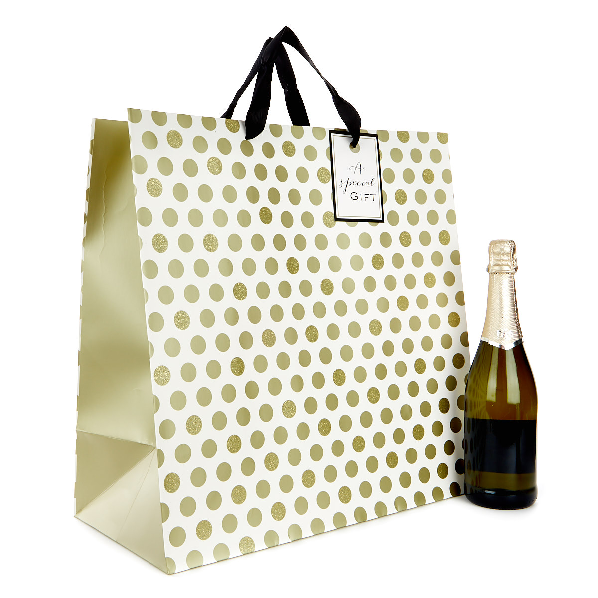 Giant Cream & Gold Gift Bag A Special Gift