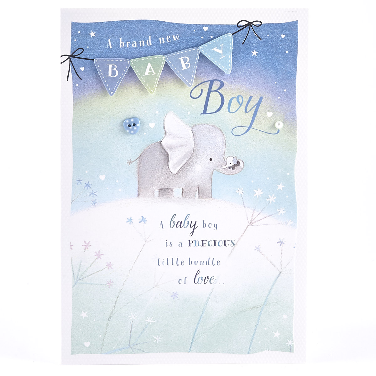 Baby Boy Card - Elephants