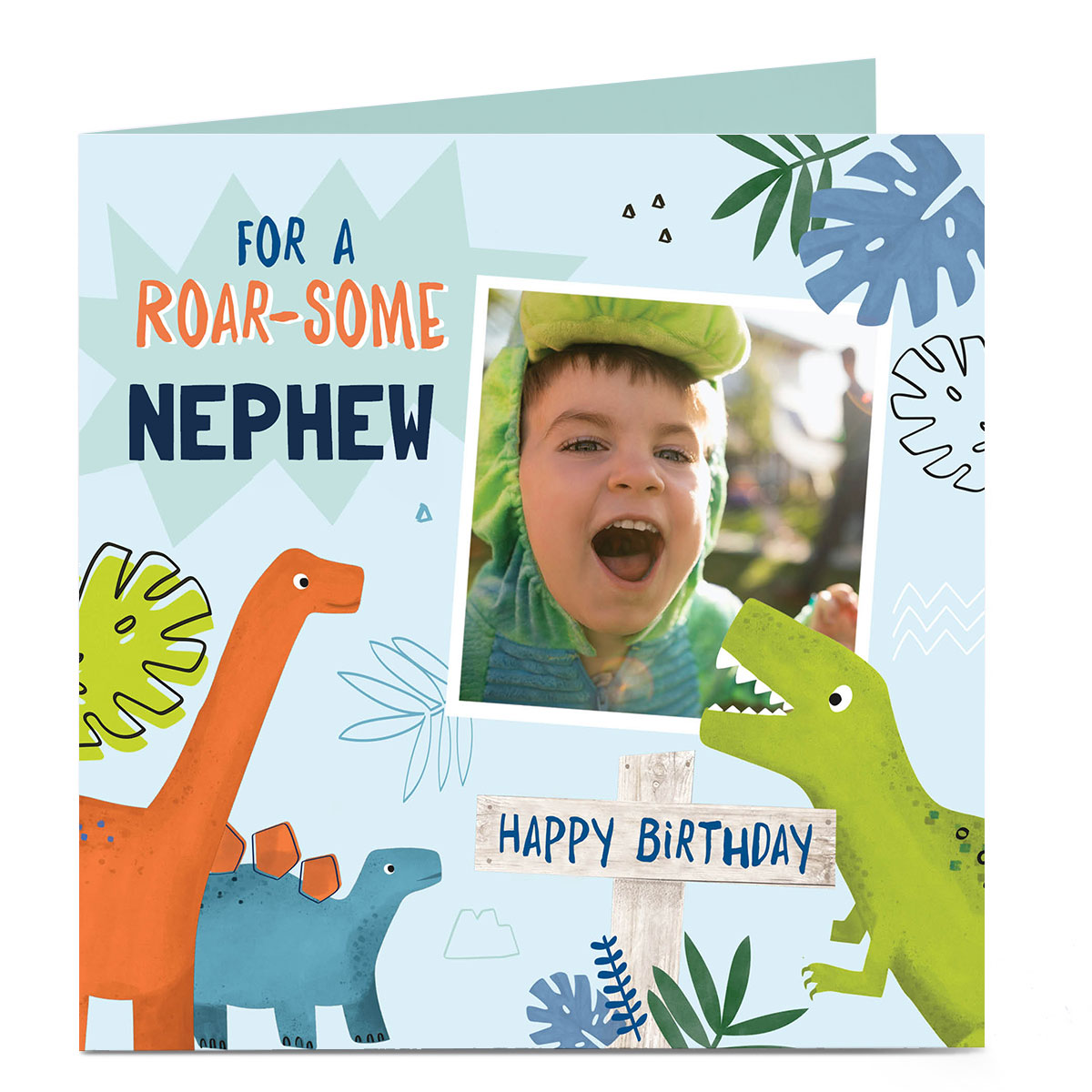 Personalised Birthday Photo Card - Roar-some Birthday