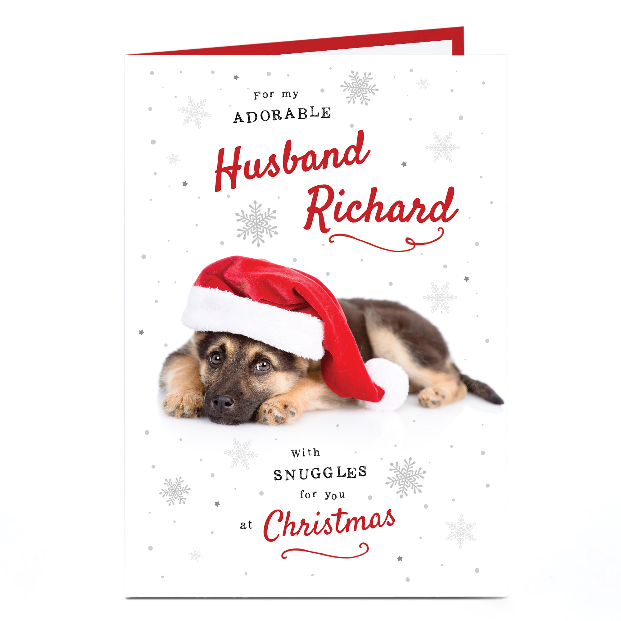 Personalised Christmas Card - Adorable Husband