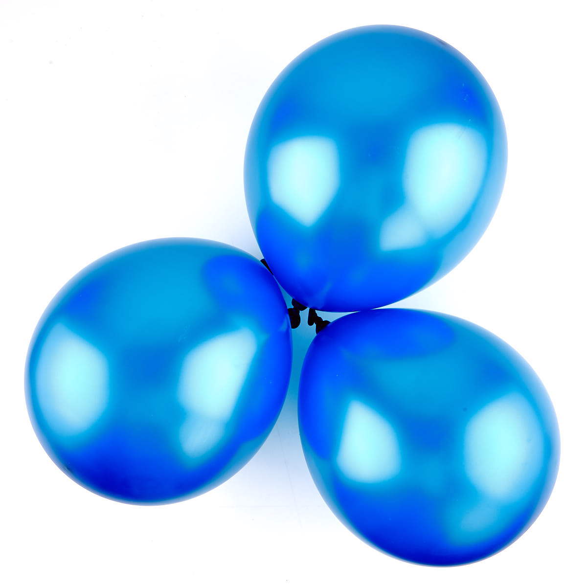 Metallic Blue Latex Balloons - Pack Of 6