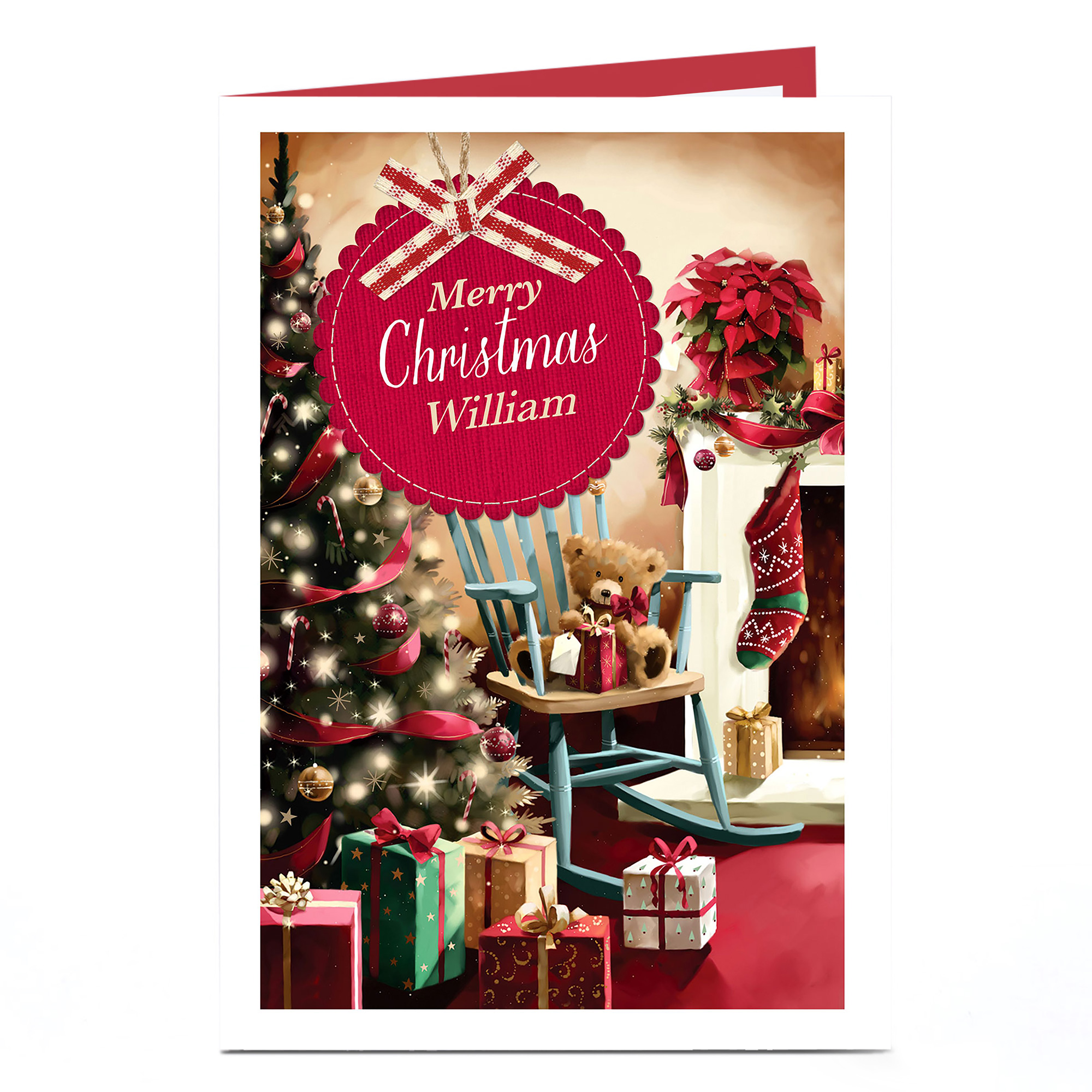 Personalised Christmas Card - Presents Under Tree