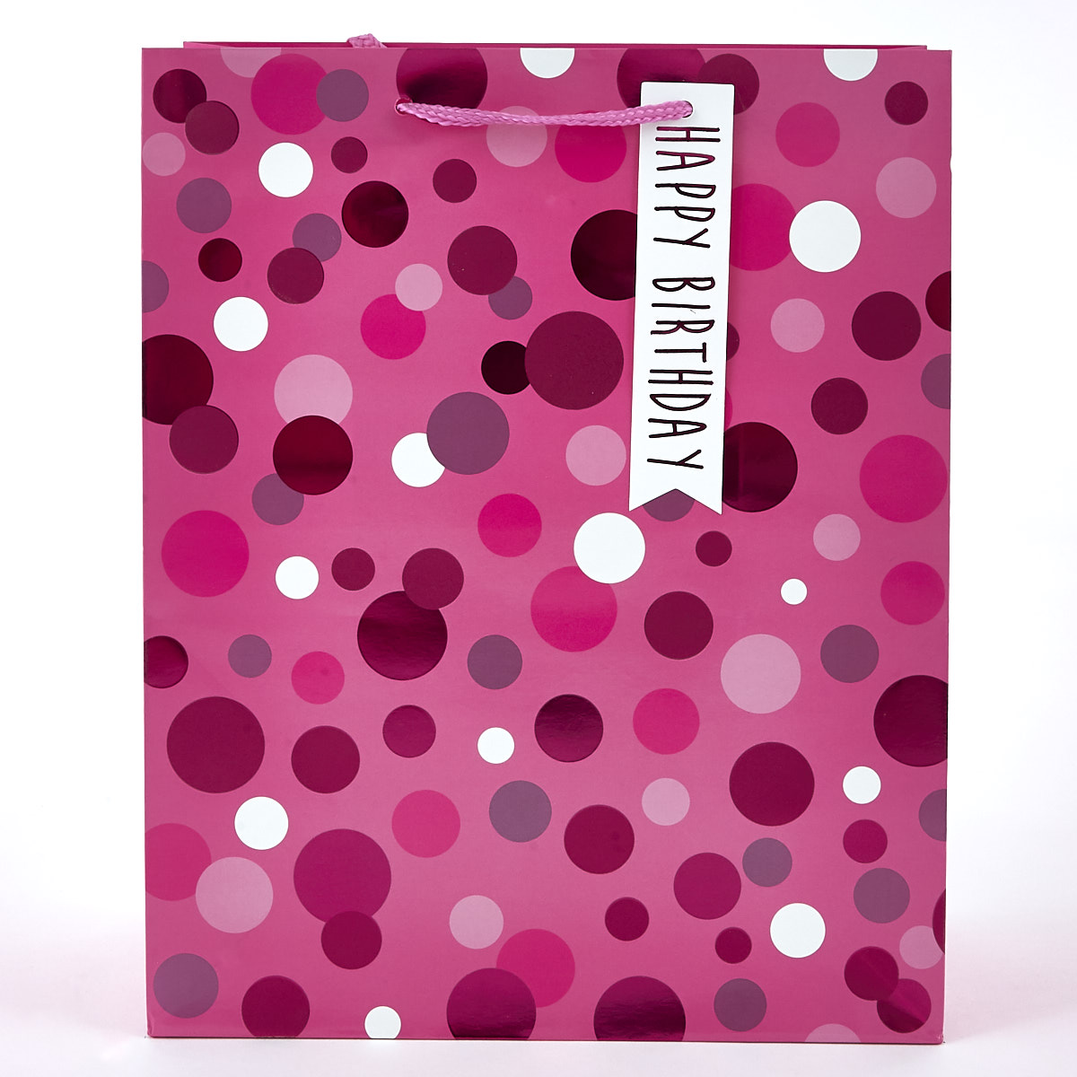 buy pink sparklespotted birthday gift bag for gbp 129