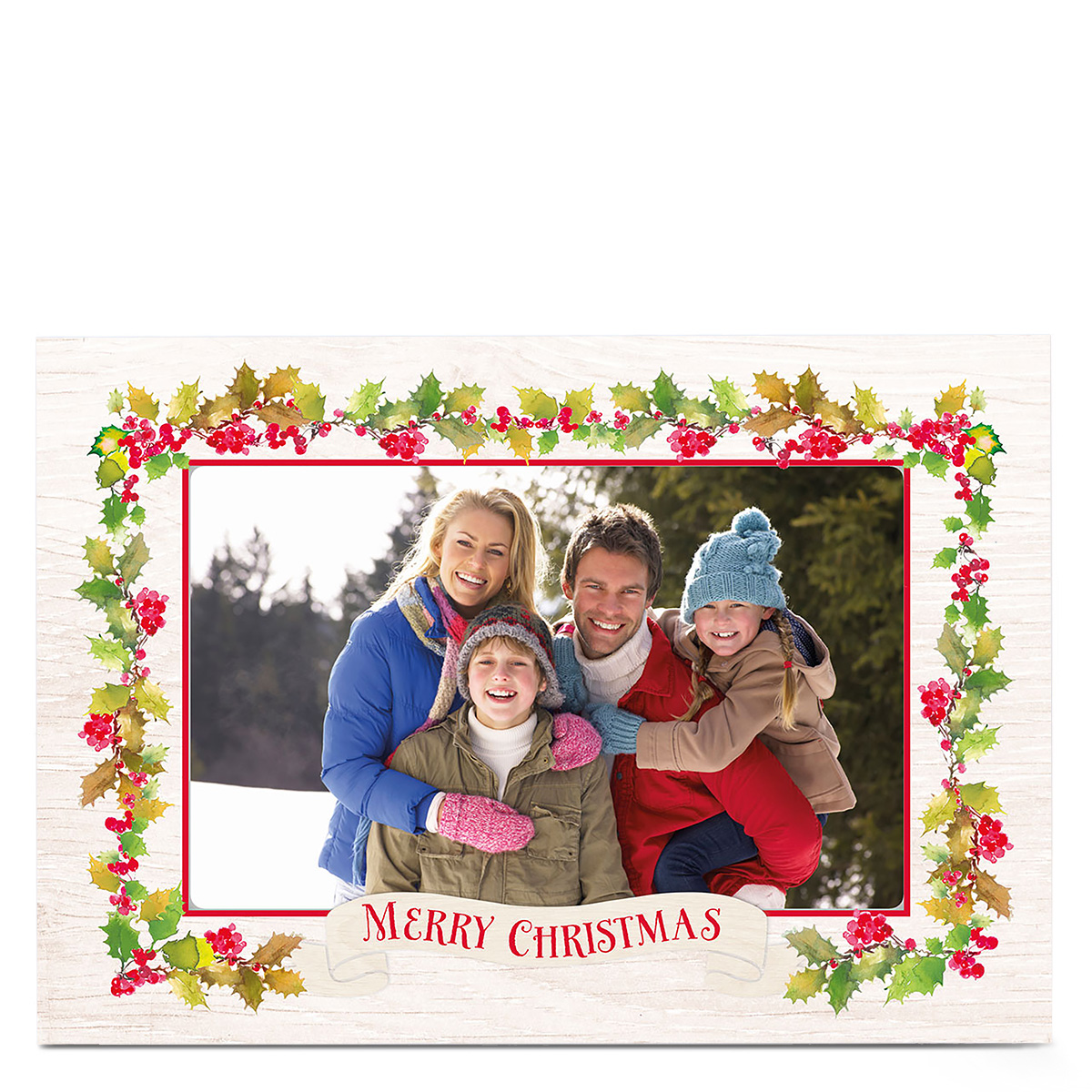 Christmas Photo Card - Holly Berries