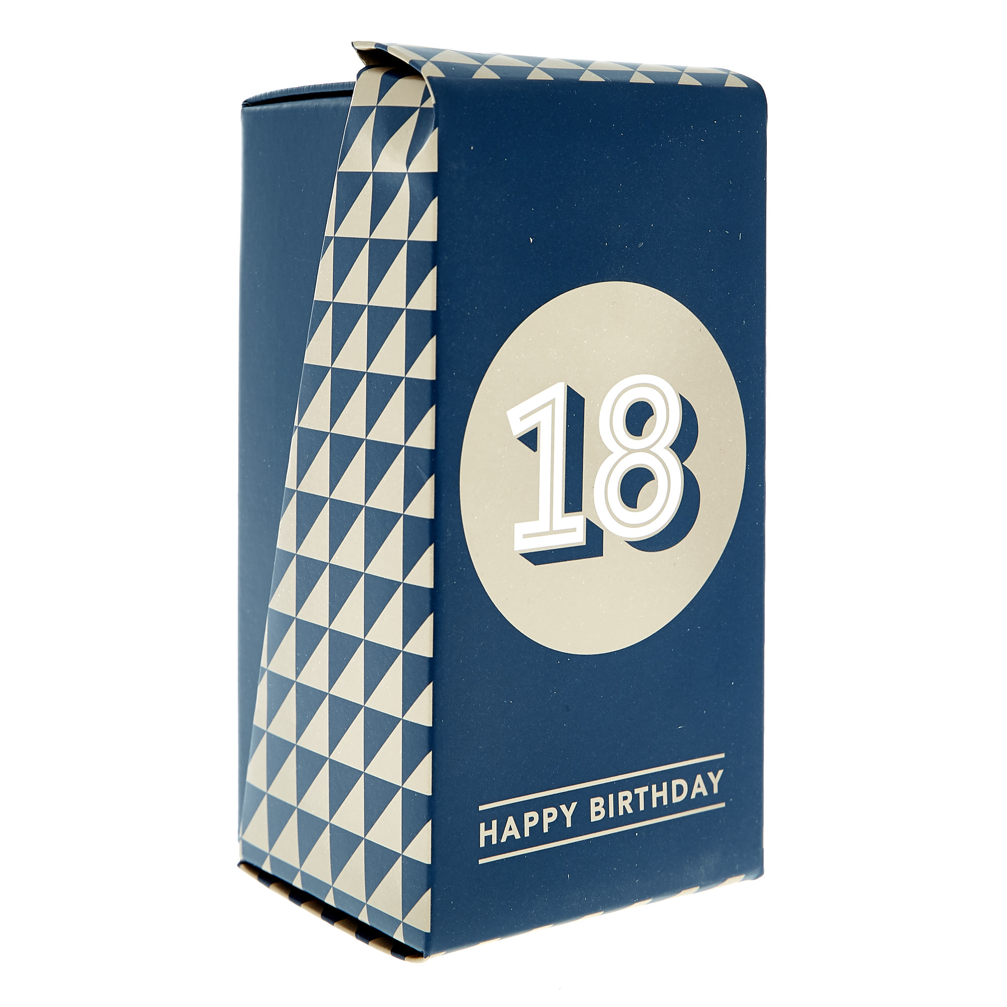 18th Birthday Pint Glass In A Box - Blue & Gold