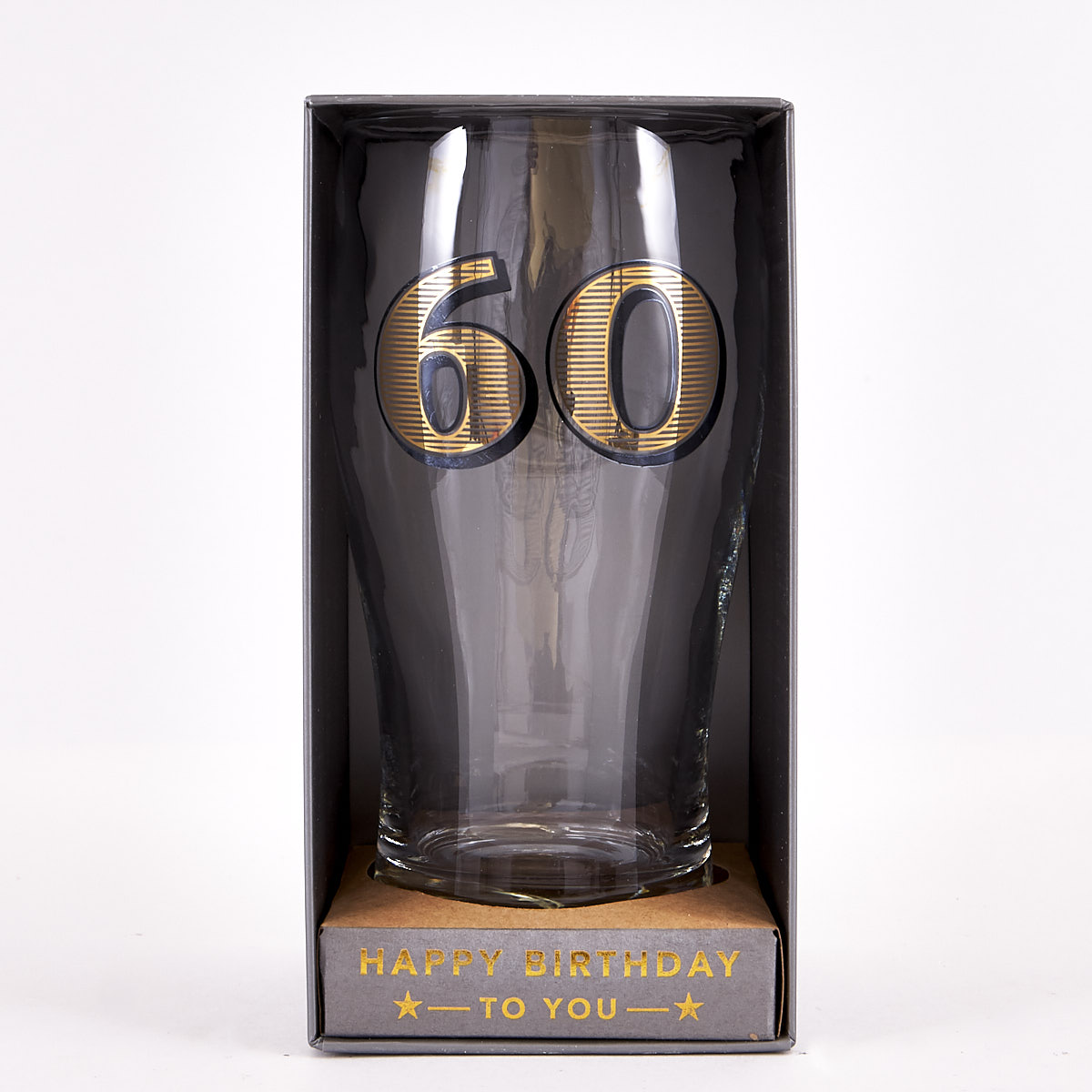 60th Birthday Pint Glass - Classic Collection