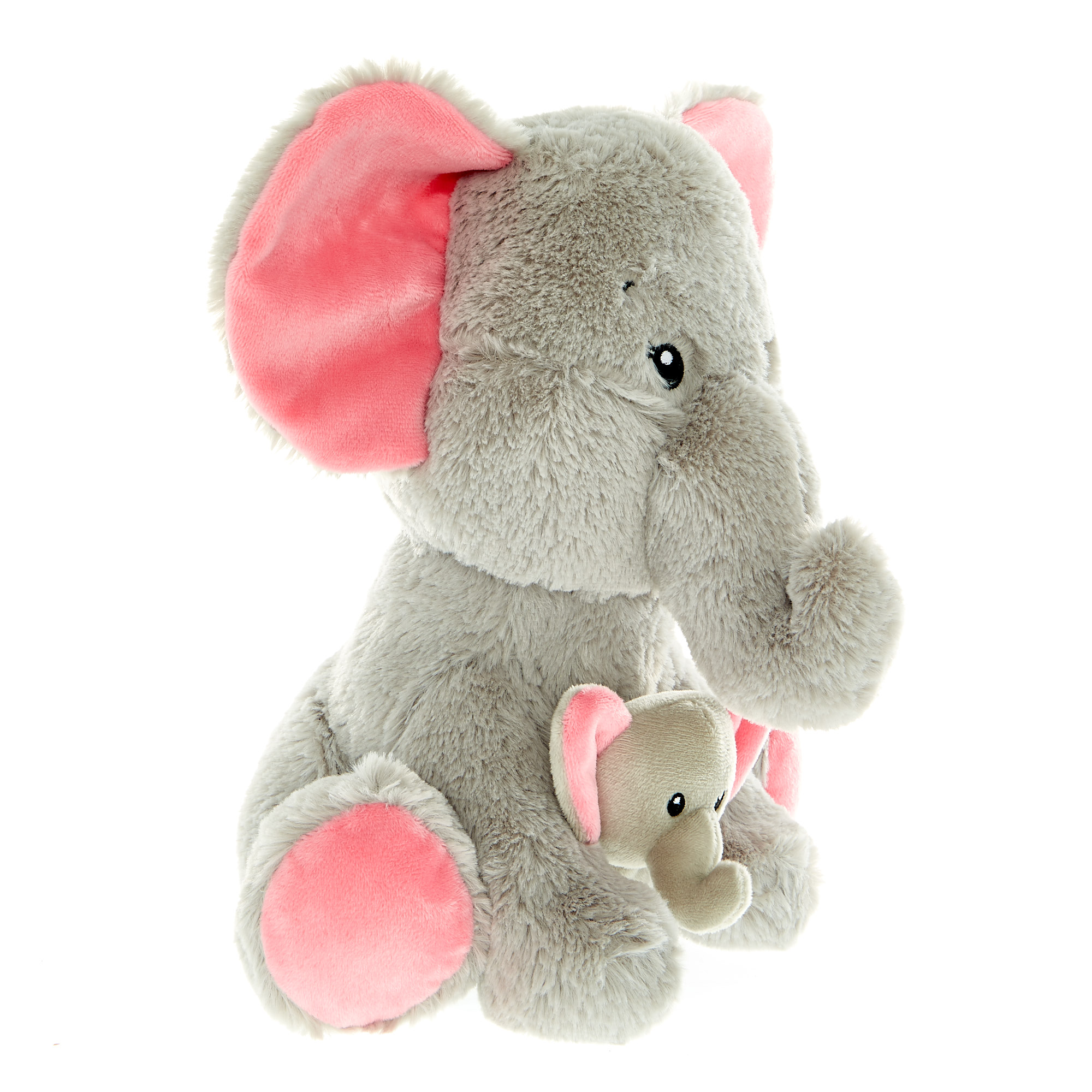Mother & Baby Elephant Soft Toy