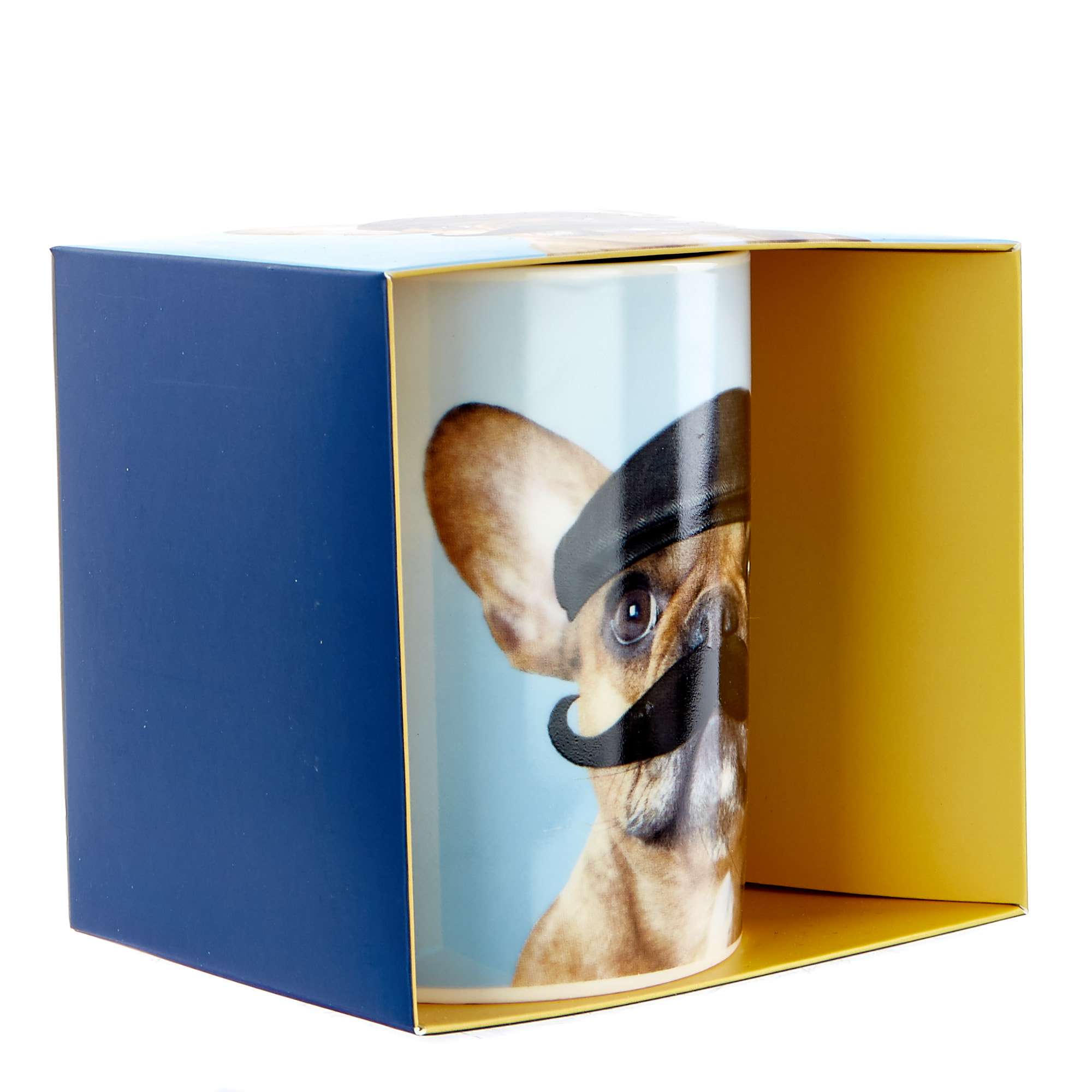 Large Mustached French Bulldog Mug