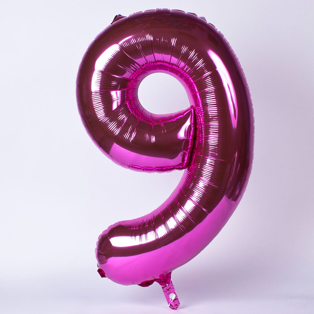 Pink Number 9 Giant Foil Helium Balloon INFLATED