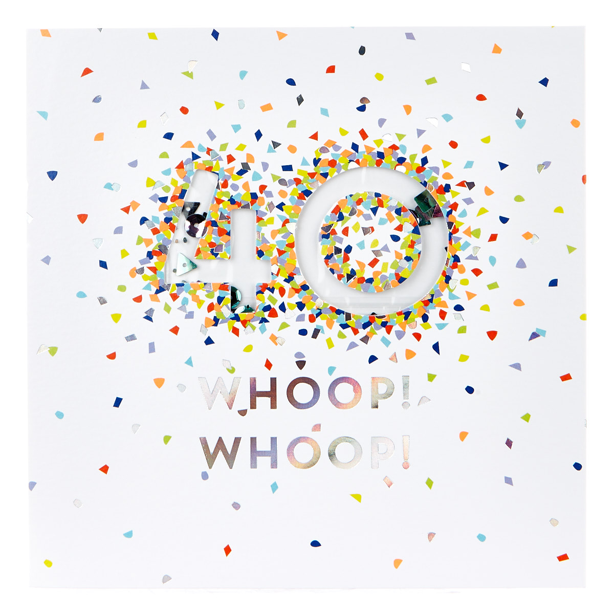 VIP Collection 40th Birthday Card - Neon Confetti