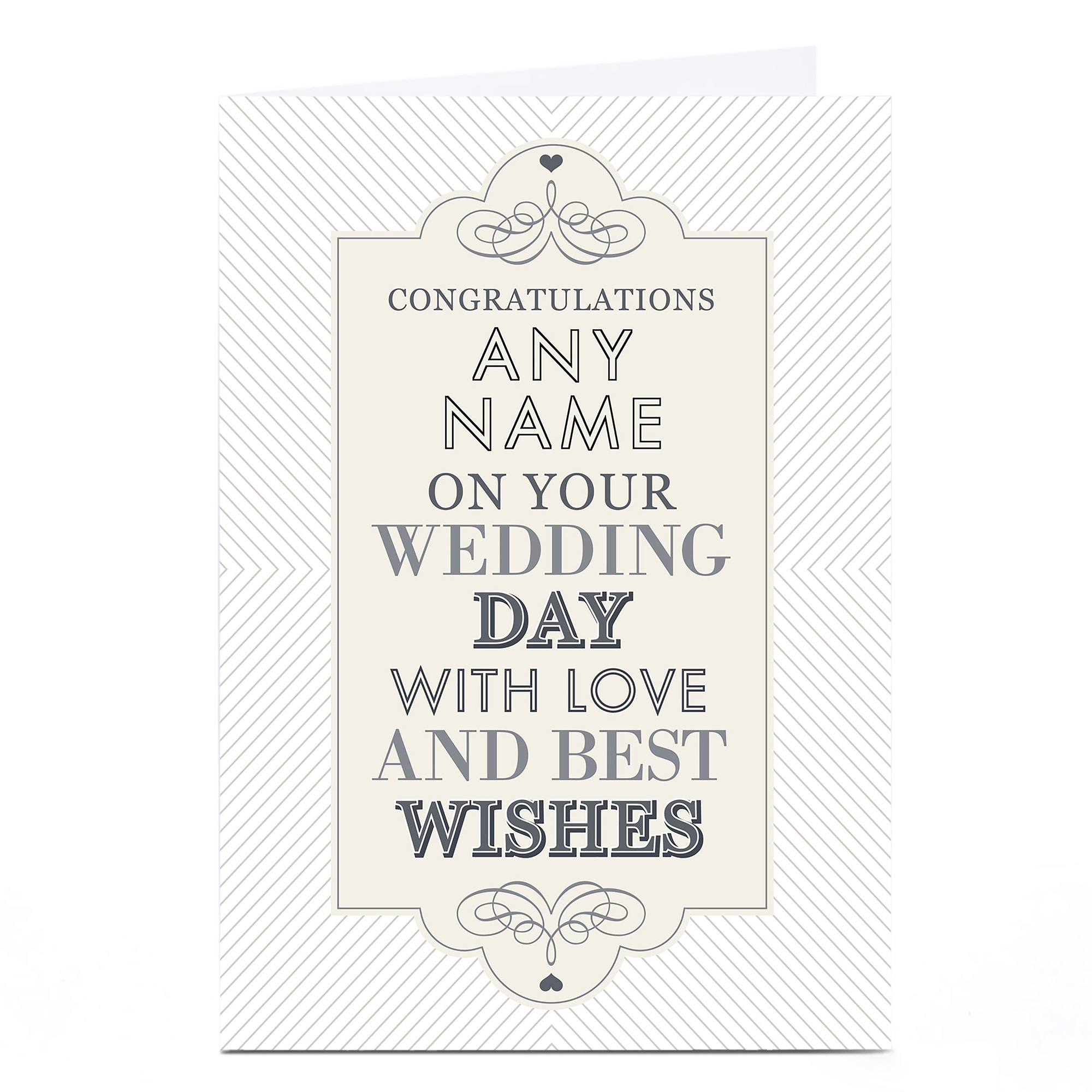 Personalised Wedding Card - With Love & Best Wishes
