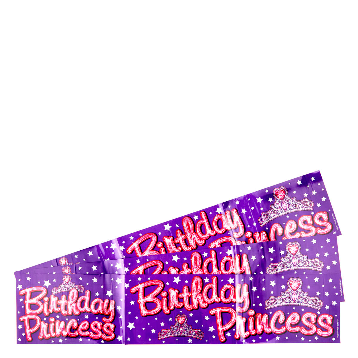Holographic Happy Birthday Purple Foil Banners - Pack of 3