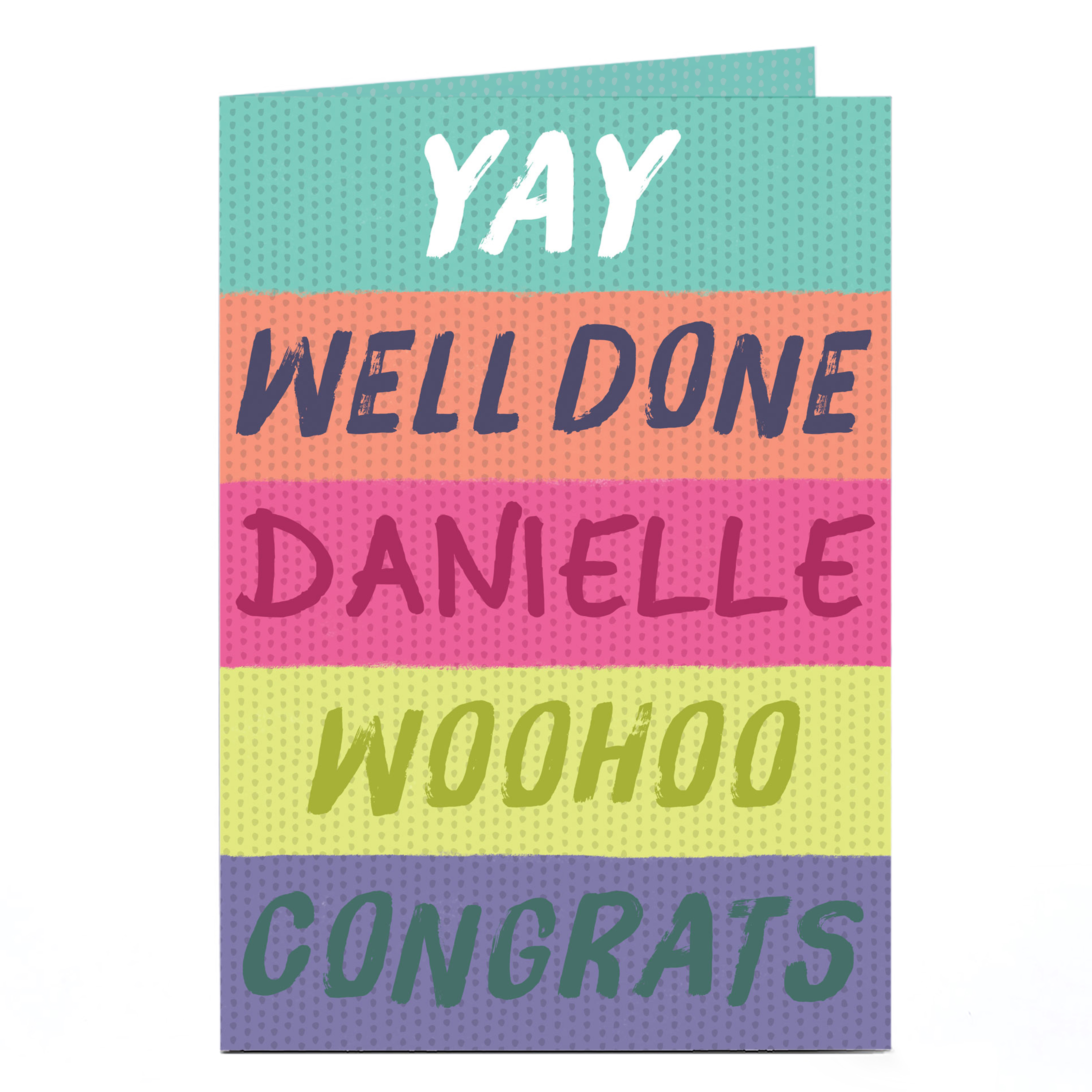 Personalised Congratulations Card - Yay Well Done