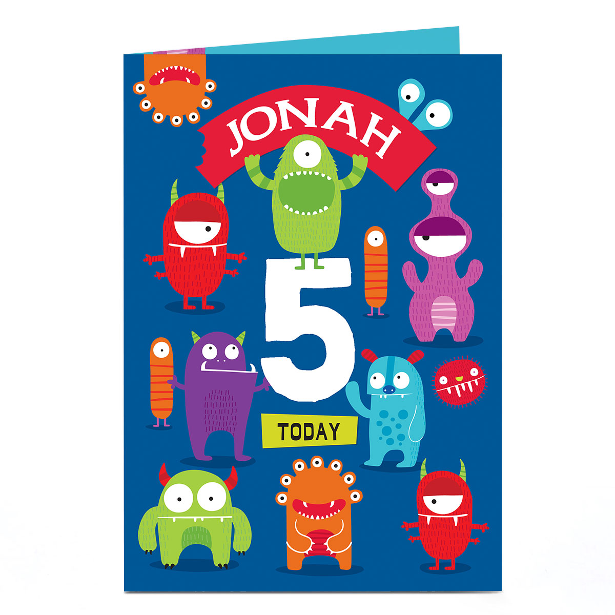 Personalised Birthday Card - Monster Madness, Any Age