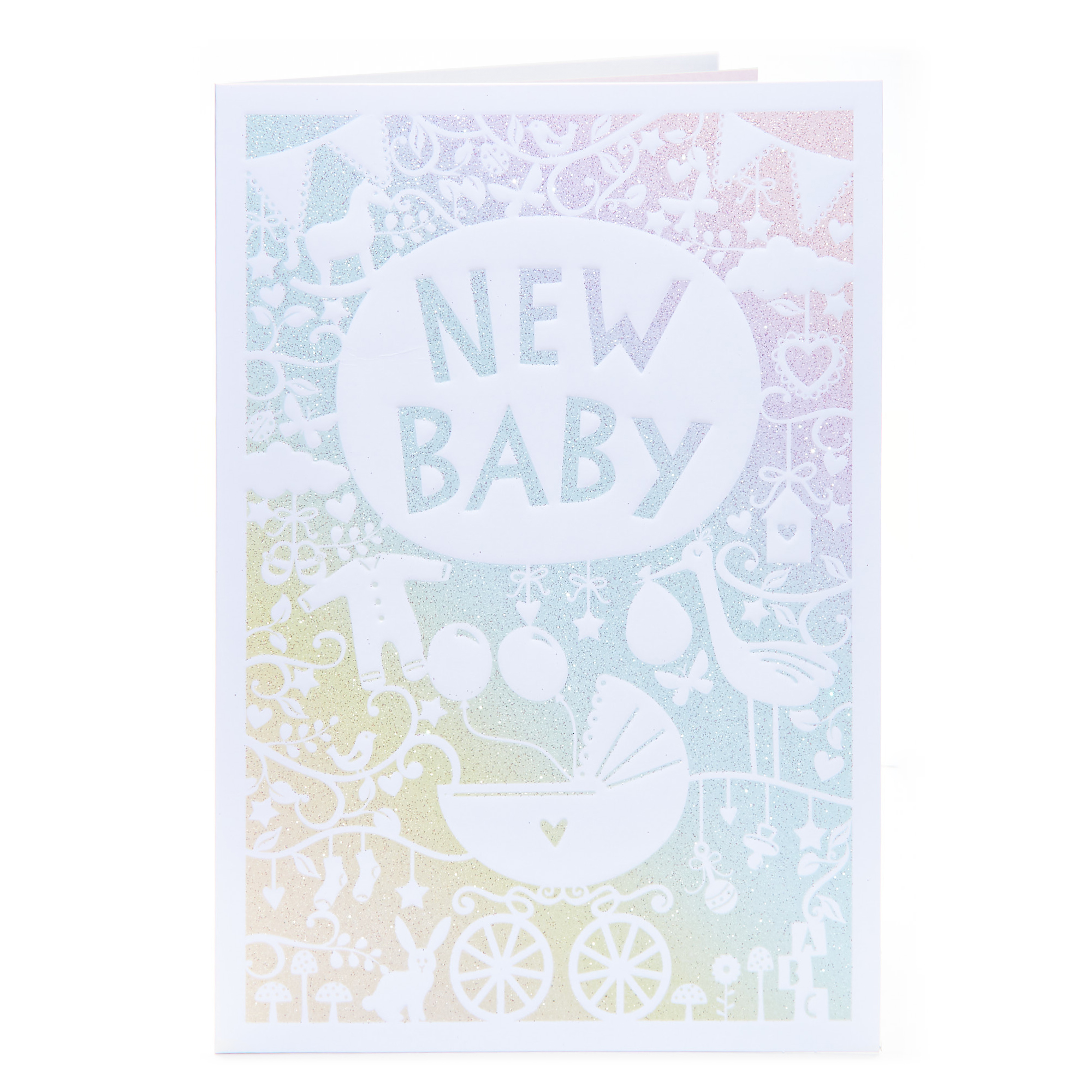 New Baby Card - Rainbow Ombre