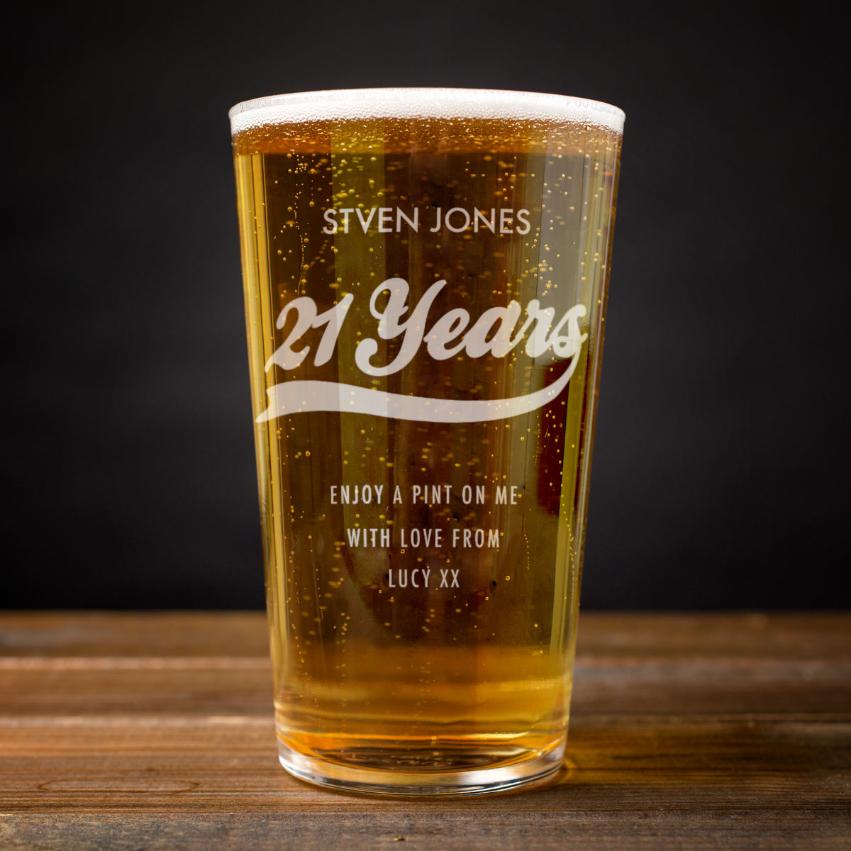 Personalised Birthday Years Pint Glass
