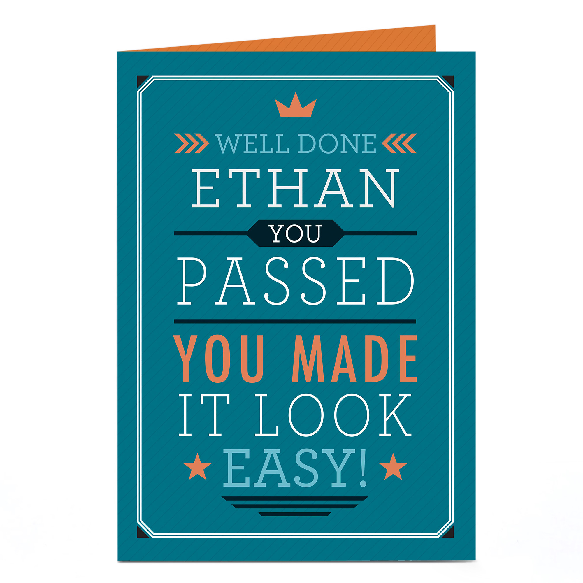 buy personalised congratulations card  you made it look
