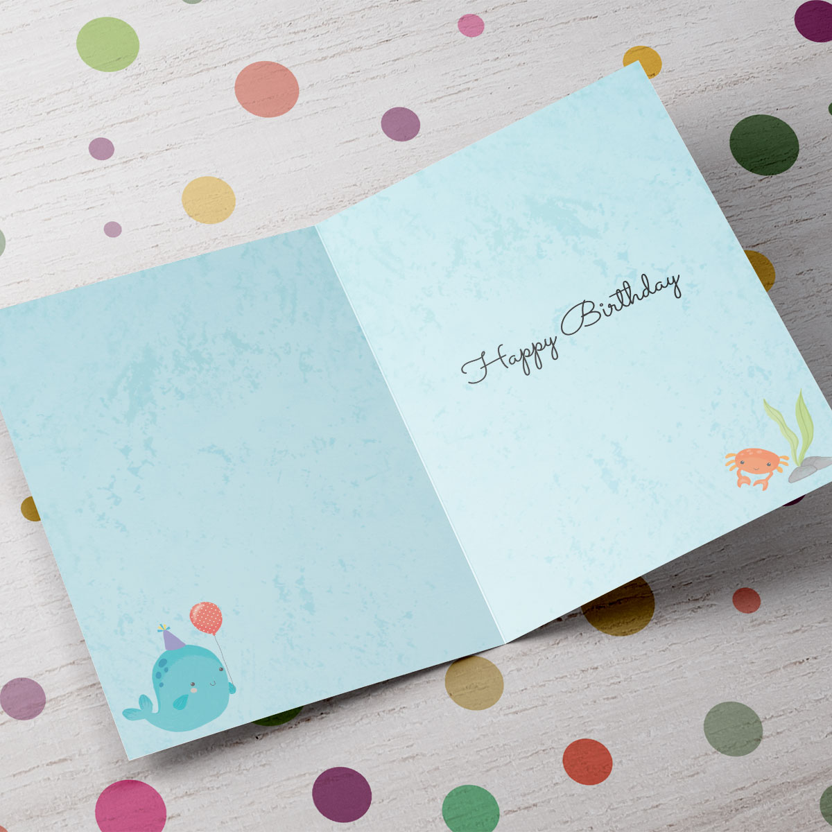 Personalised 3rd Birthday Card - Sea Creatures