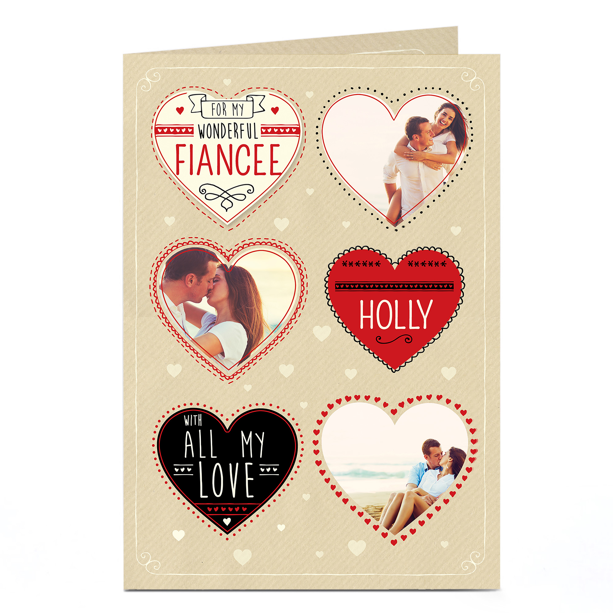 Multi Photo card - All My Love, Fiancee