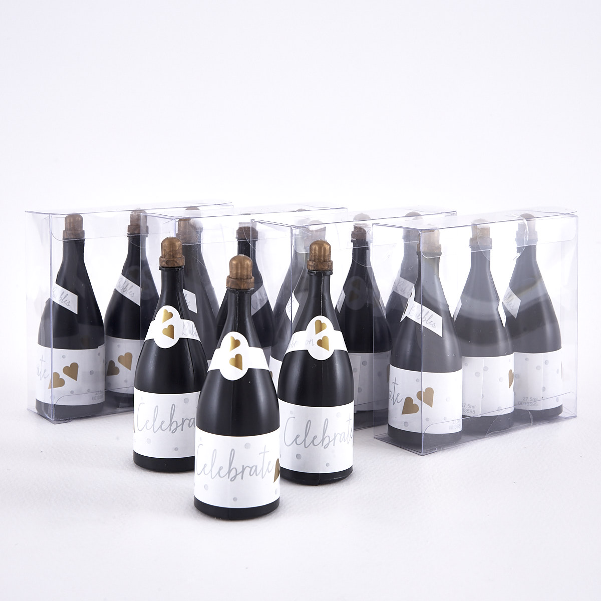 Champagne Wedding Bubbles Pack of 3 x 5