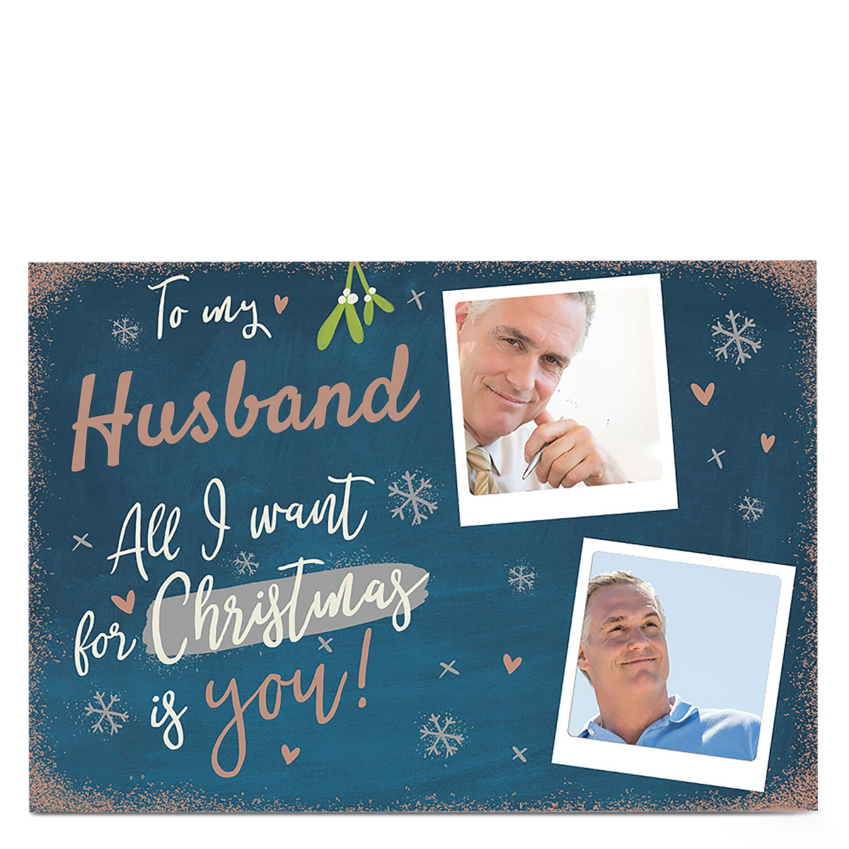 Photo Christmas Card - Husband All I Want Is You