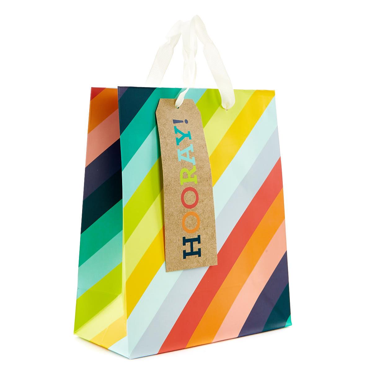 buy small rainbow gift bag  hooray for gbp 099  card