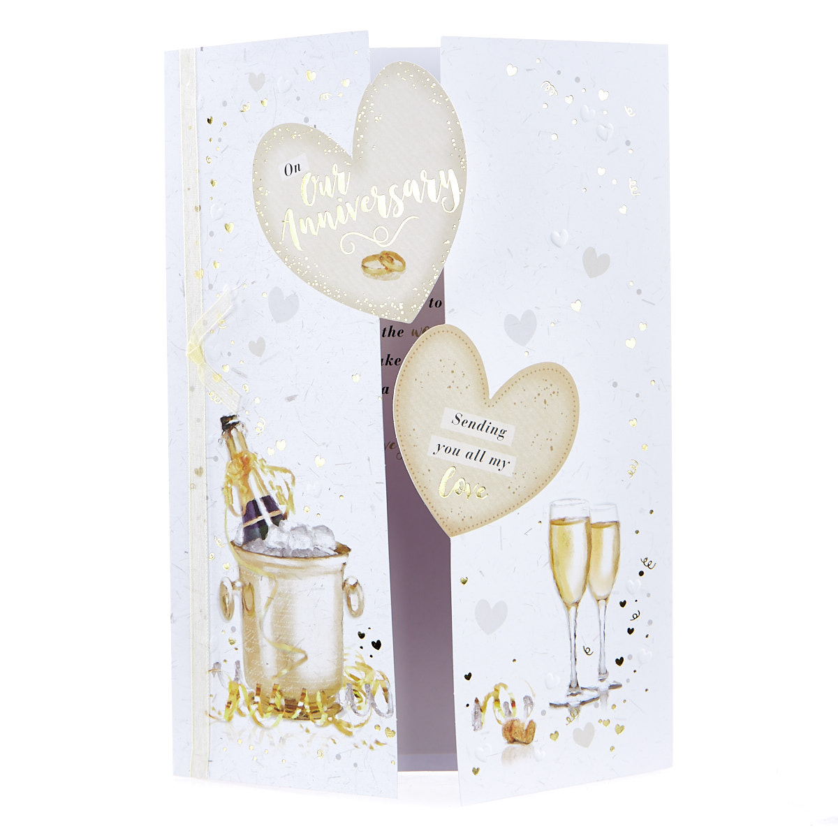 buy wedding anniversary card  champagne for gbp 149