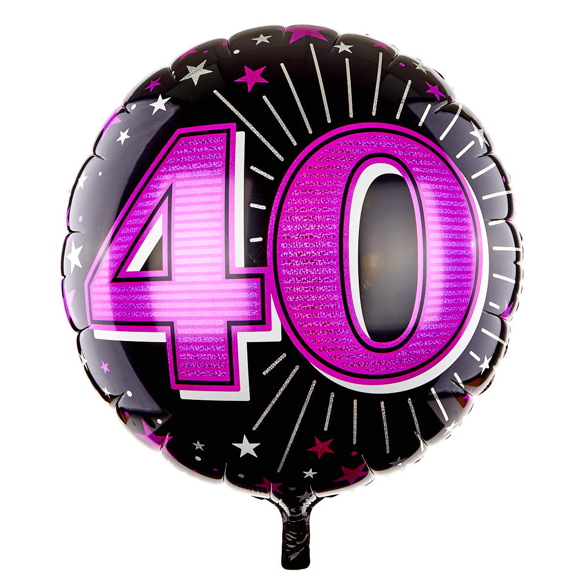 31 Inch 40th Birthday Helium Balloon - Pink