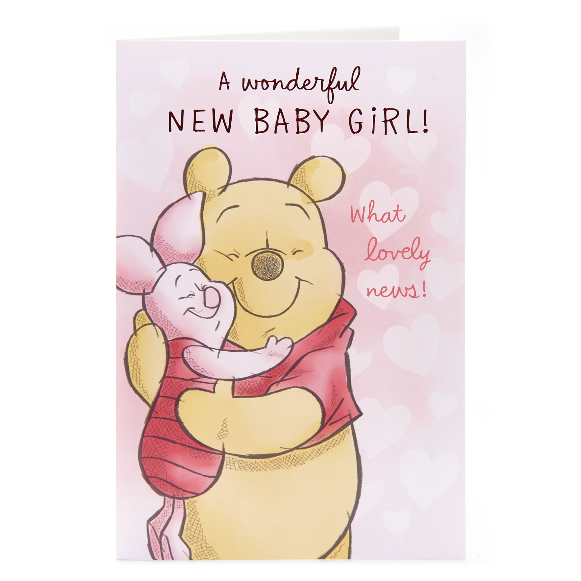 buy winnie the pooh card  new baby girl for gbp 099