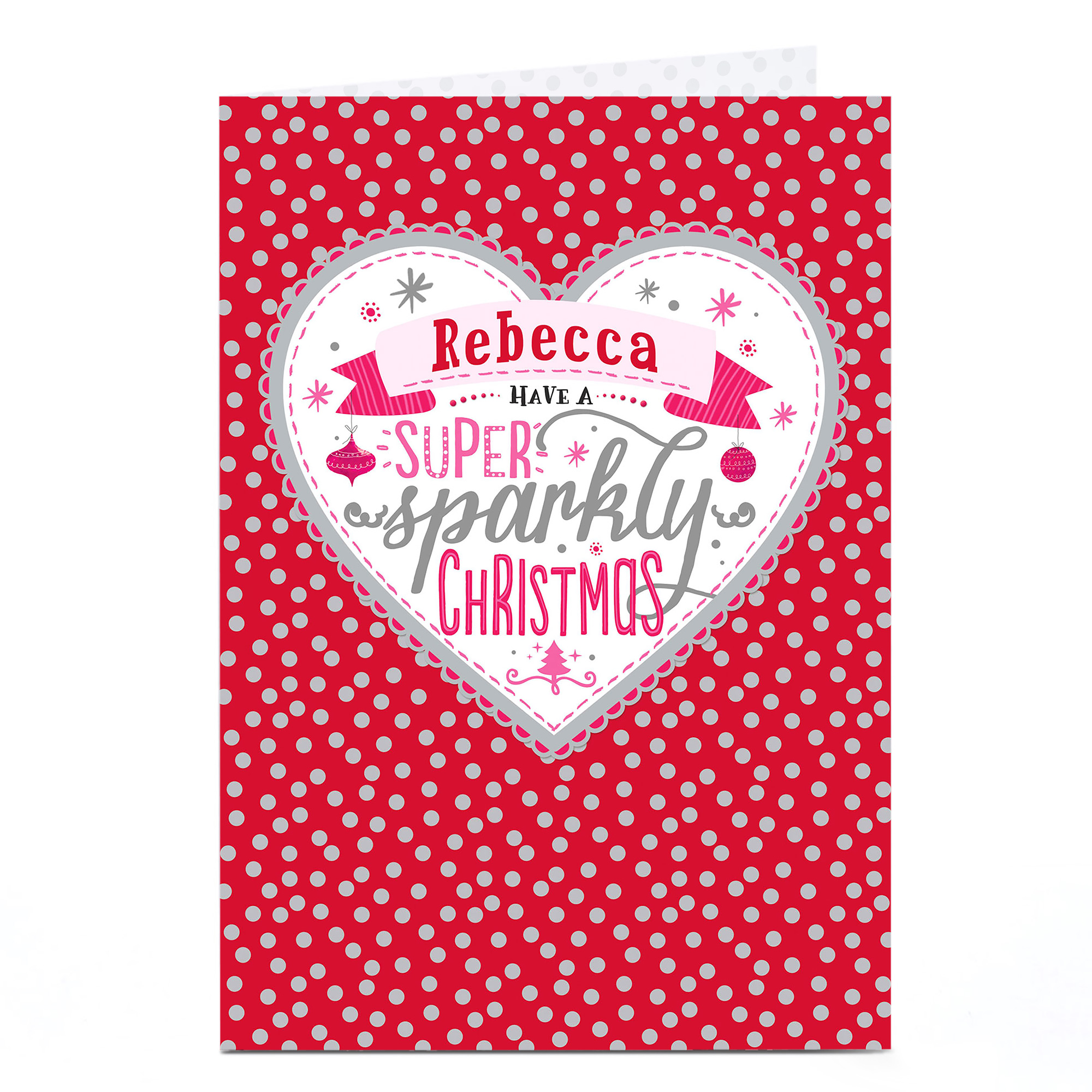 Personalised Christmas Card - Super Sparkly