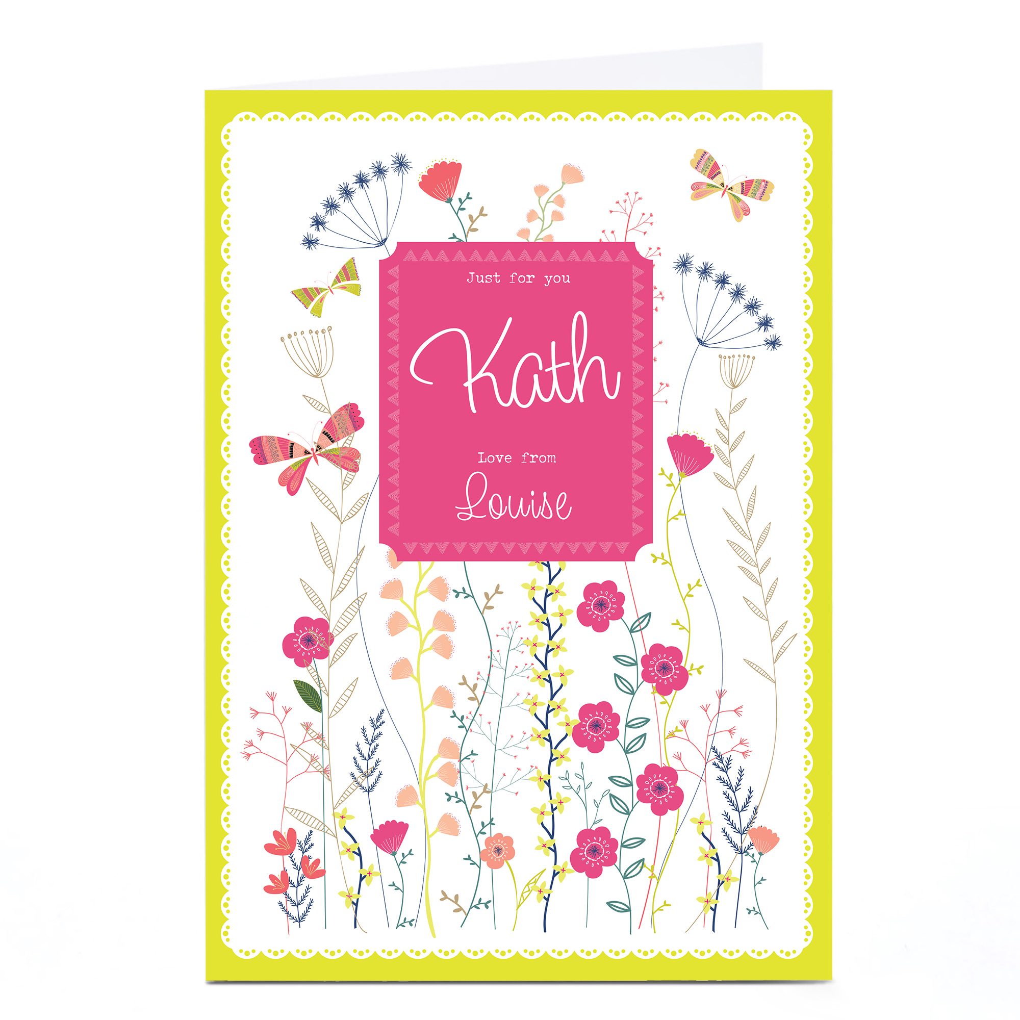 Personalised Card - Flowers Just For You