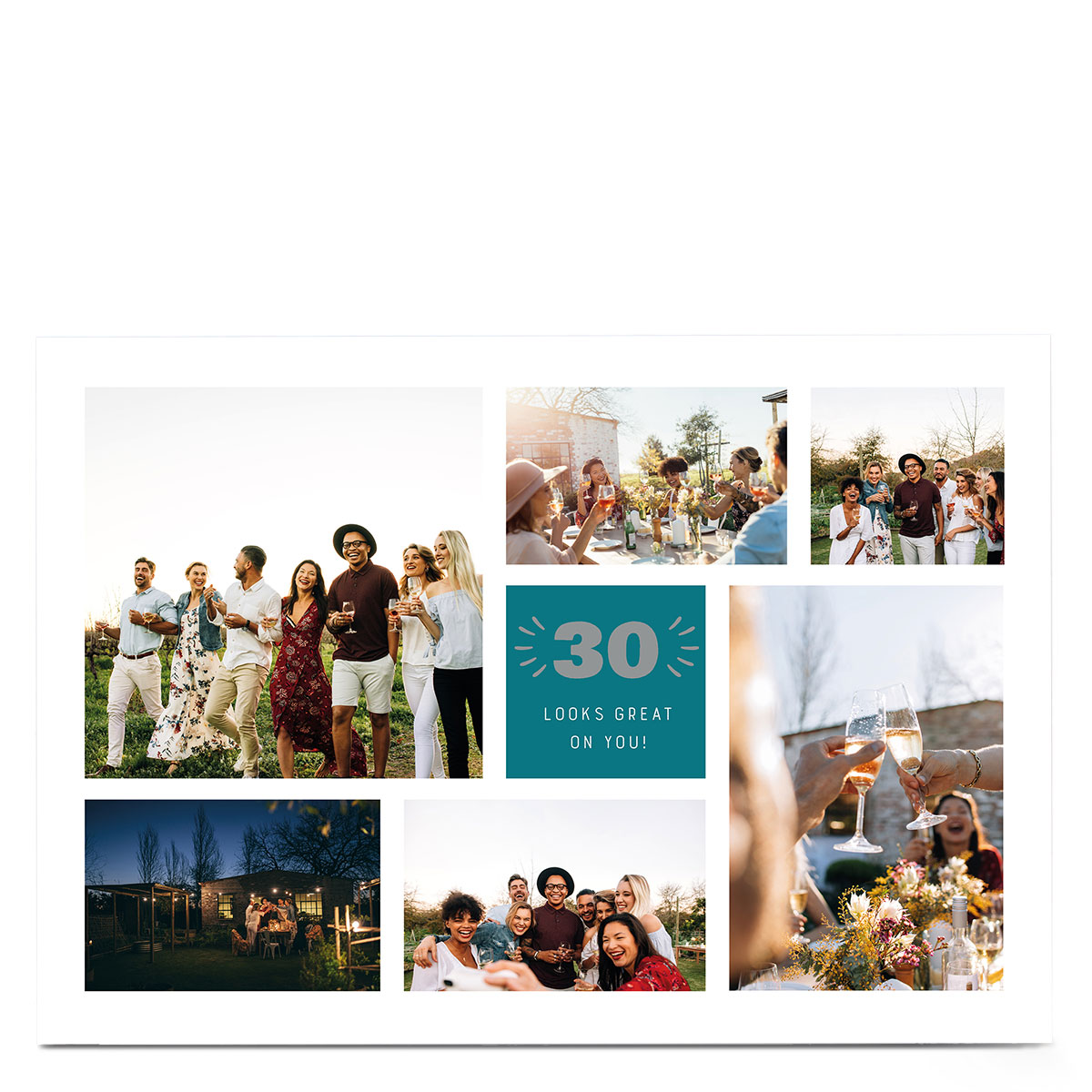 Photo 30th Birthday Card - Looks Great On You