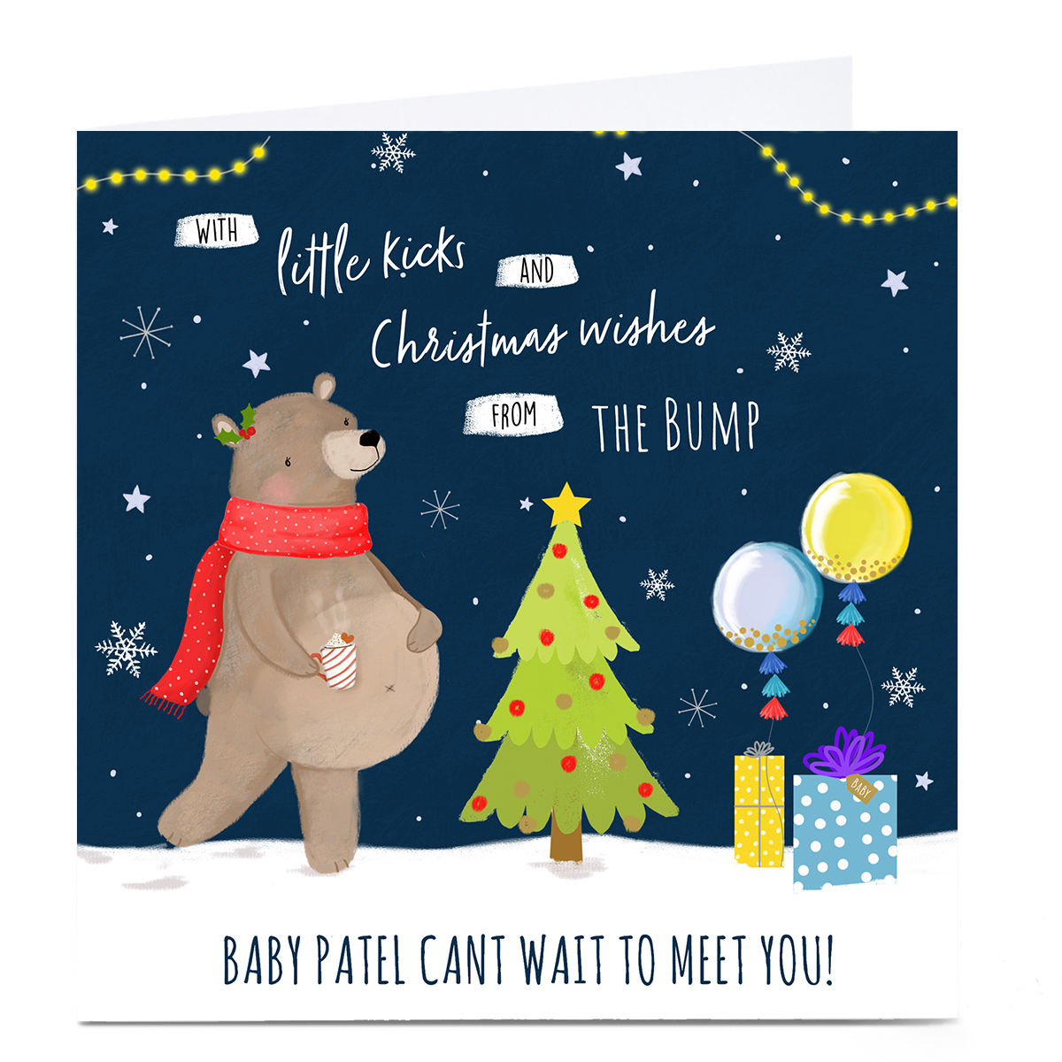 Personalised Christmas Card - Little Kicks & Christmas Wishes