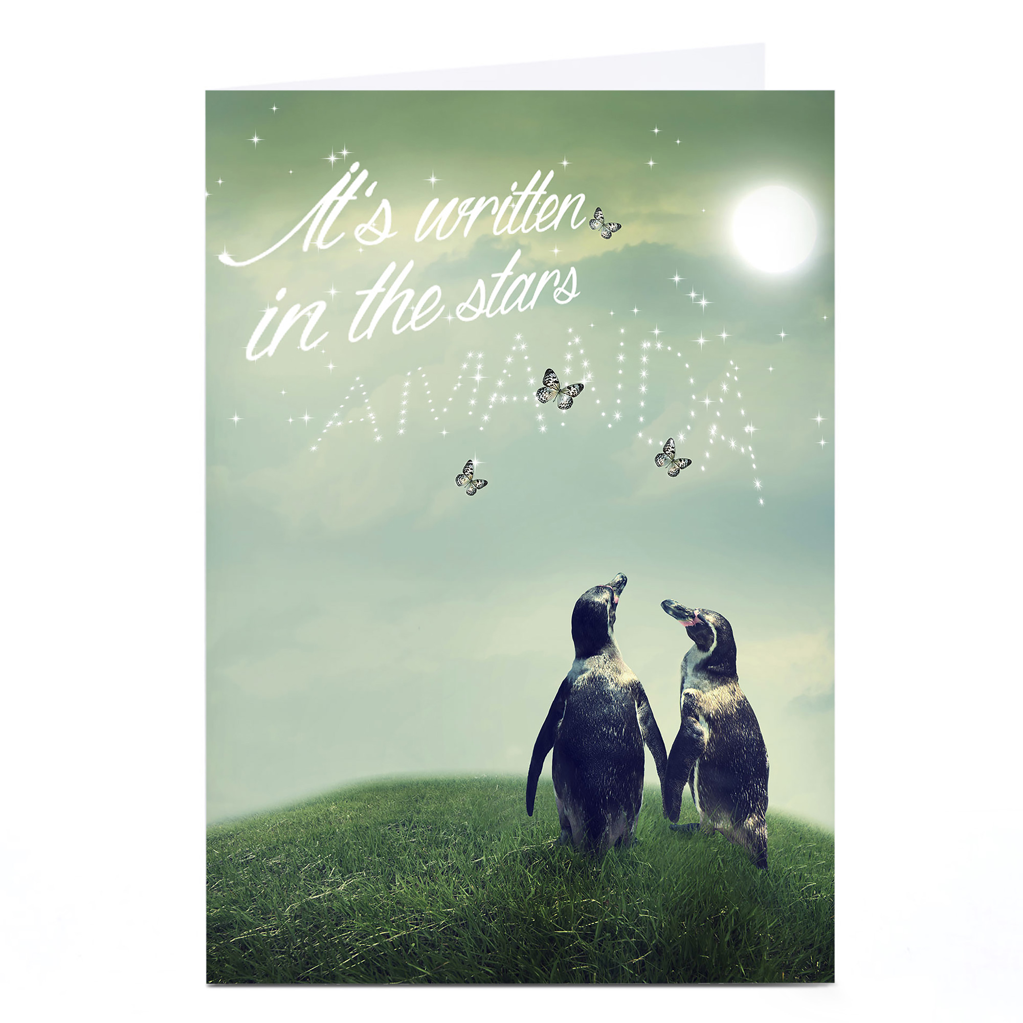 Personalised Card - It's Written In The Stars