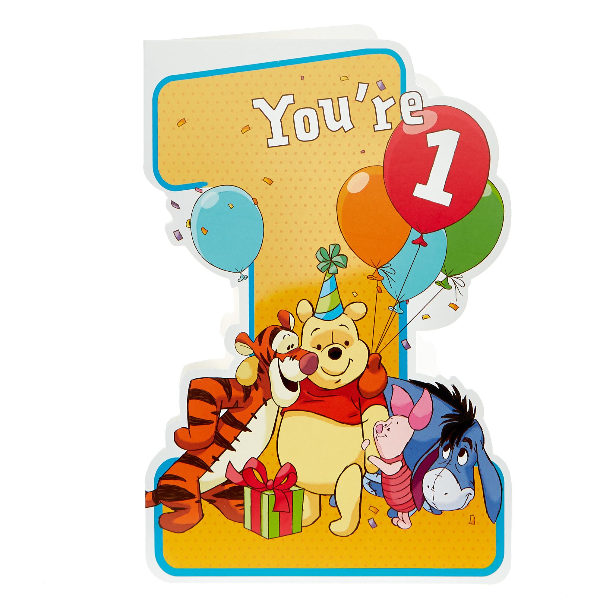 buy winnie the pooh 1st birthday card for gbp 099  card