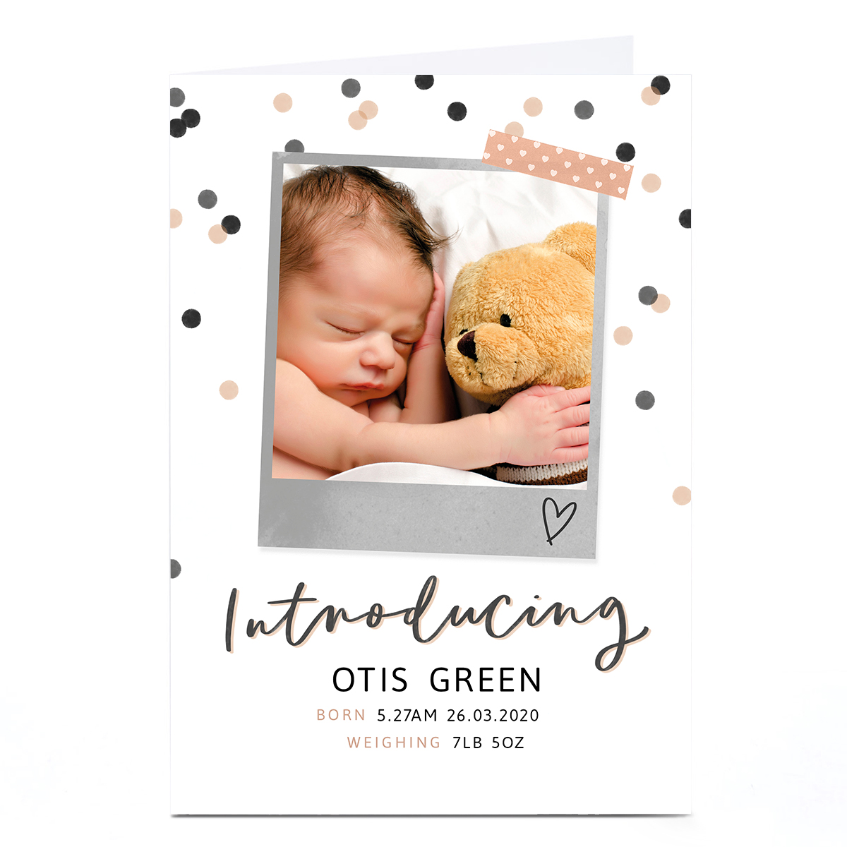 Personalised New Baby Card - Introducing