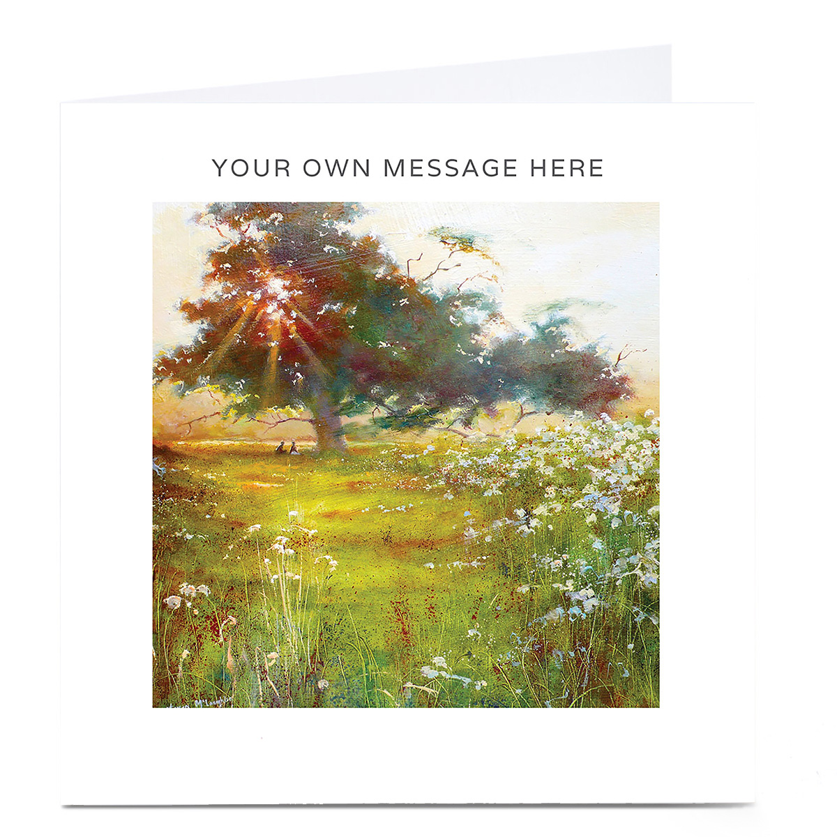 Personalised Card - Shining Sun With Trees