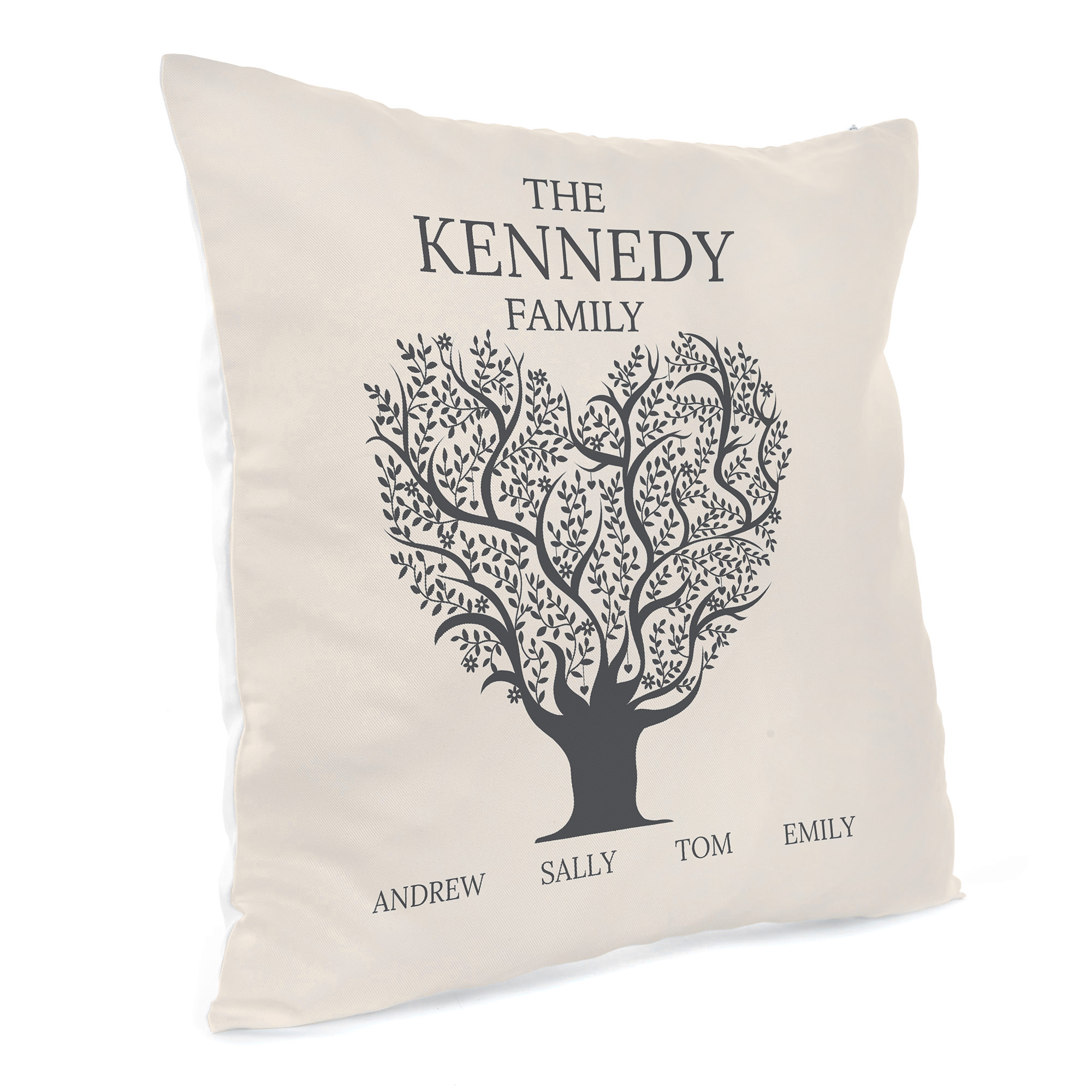 Personalised Family Cushion - Family Tree With Names