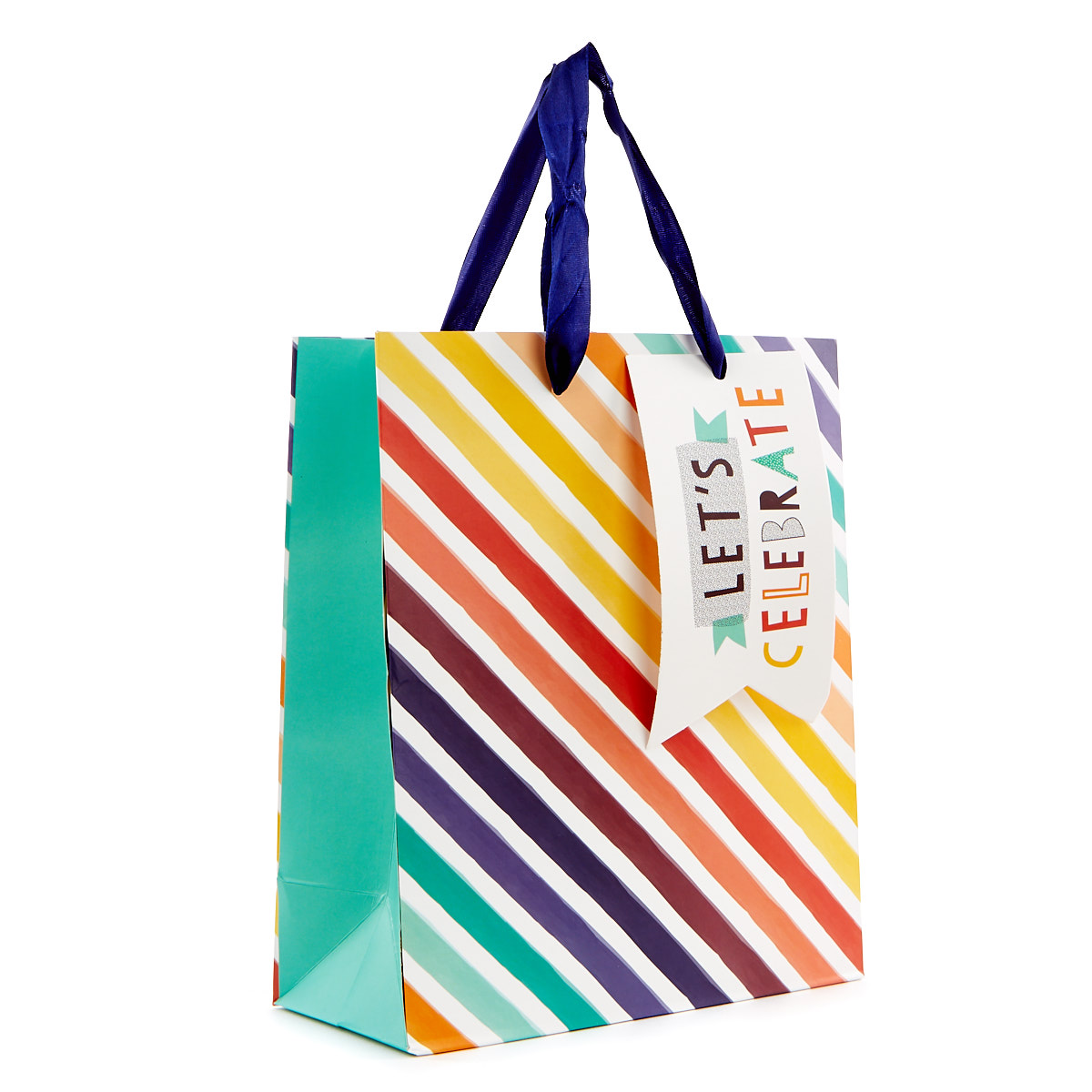 Small Portrait Gift Bag - Rainbow, Let's Celebrate