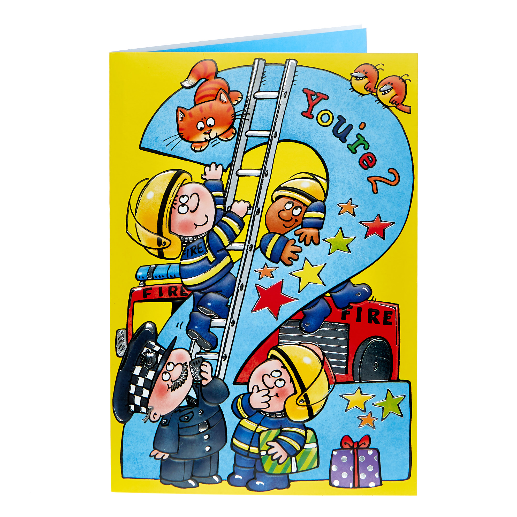 2nd Birthday Card - Fire & Rescue