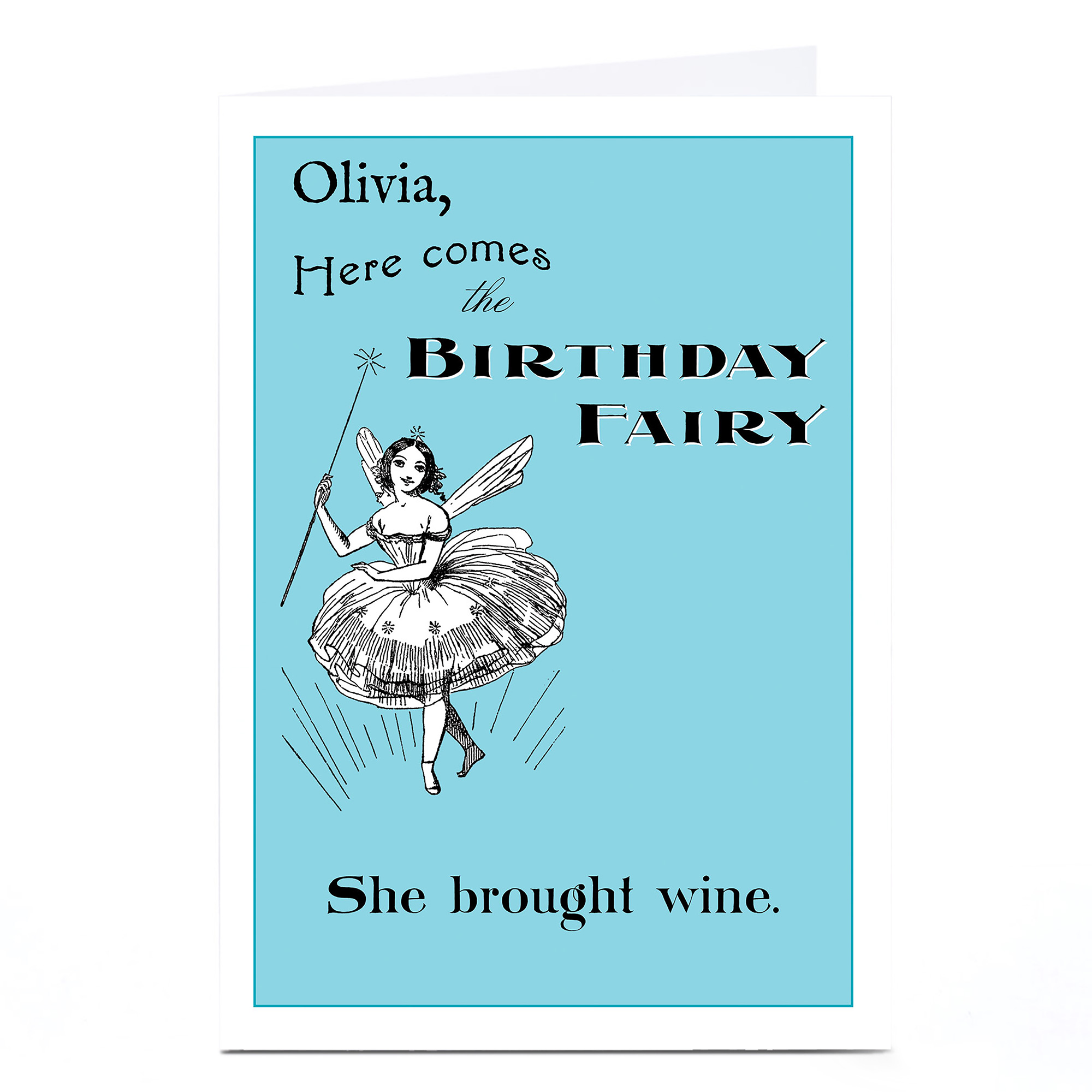 Personalised Toodle Pip Card - Birthday Fairy