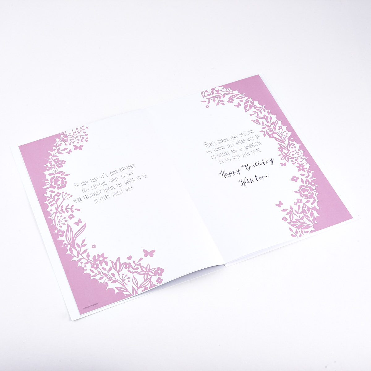Birthday Card - Special Friend, Floral Border